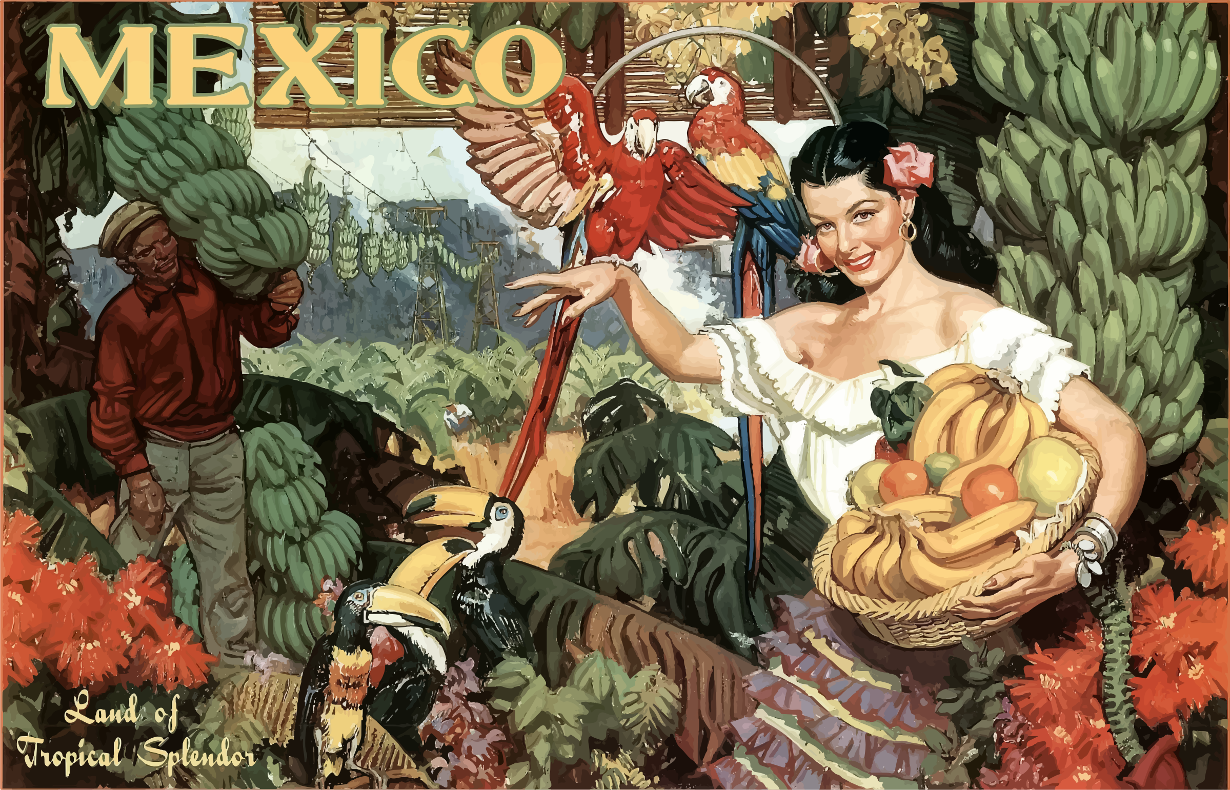 Vintage Travel Poster Mexico 2 by GDJ