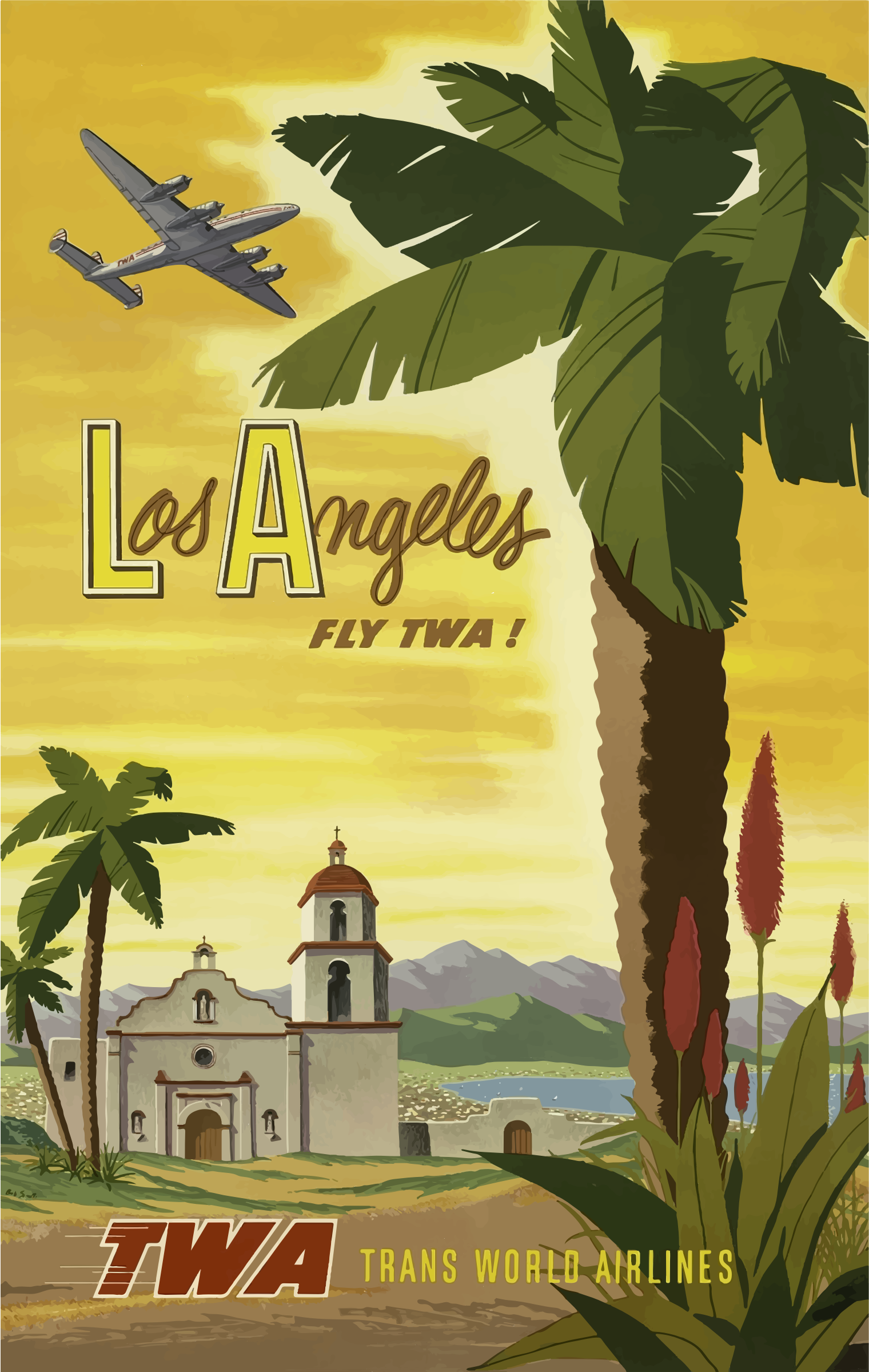 Vintage Travel Poster Los Angeles 2 by GDJ
