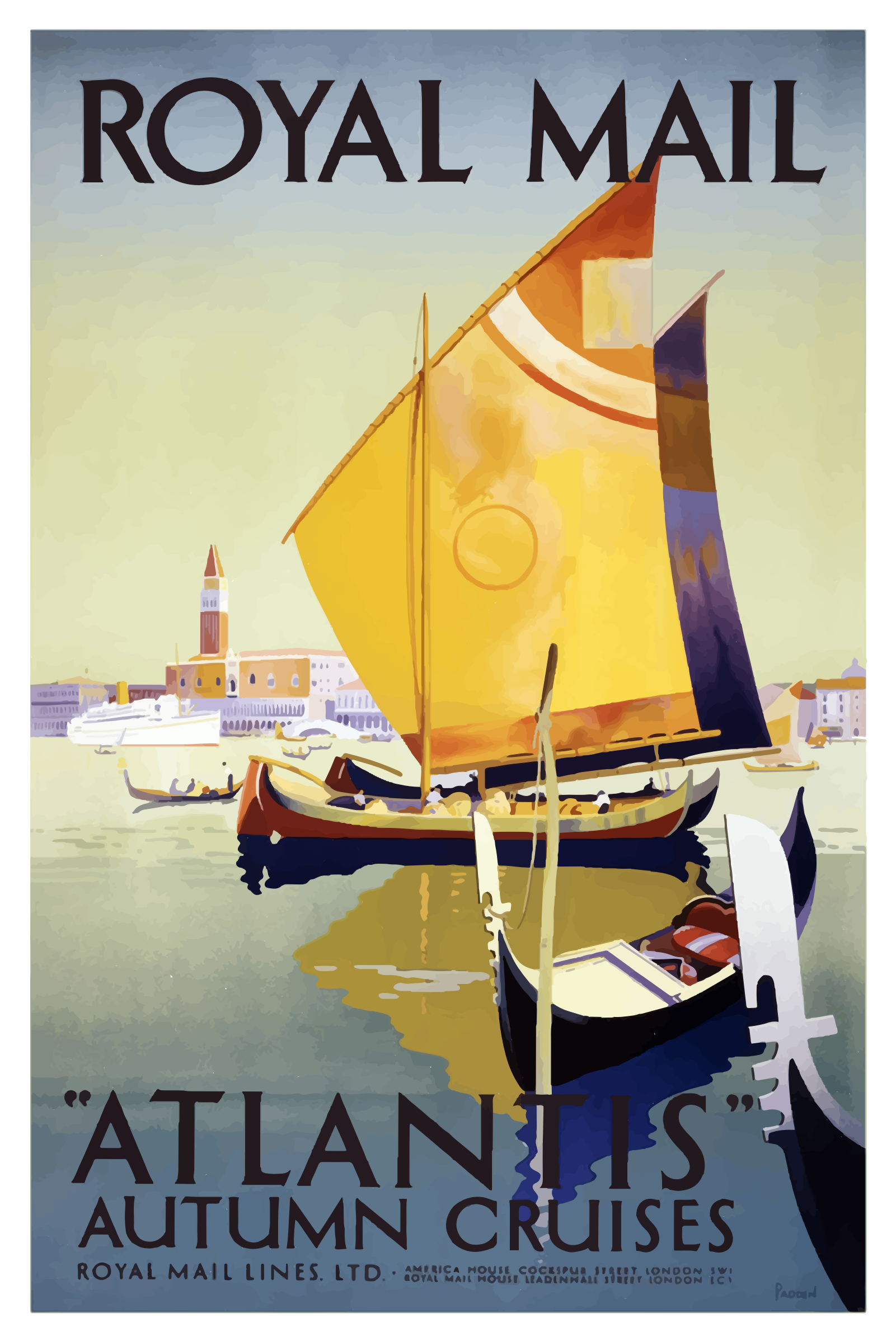 Vintage Travel Poster London England by GDJ