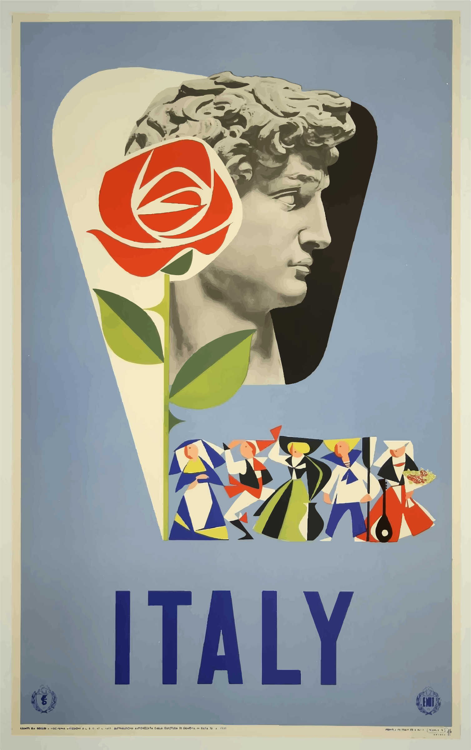Vintage Travel Poster Italy 5 by GDJ