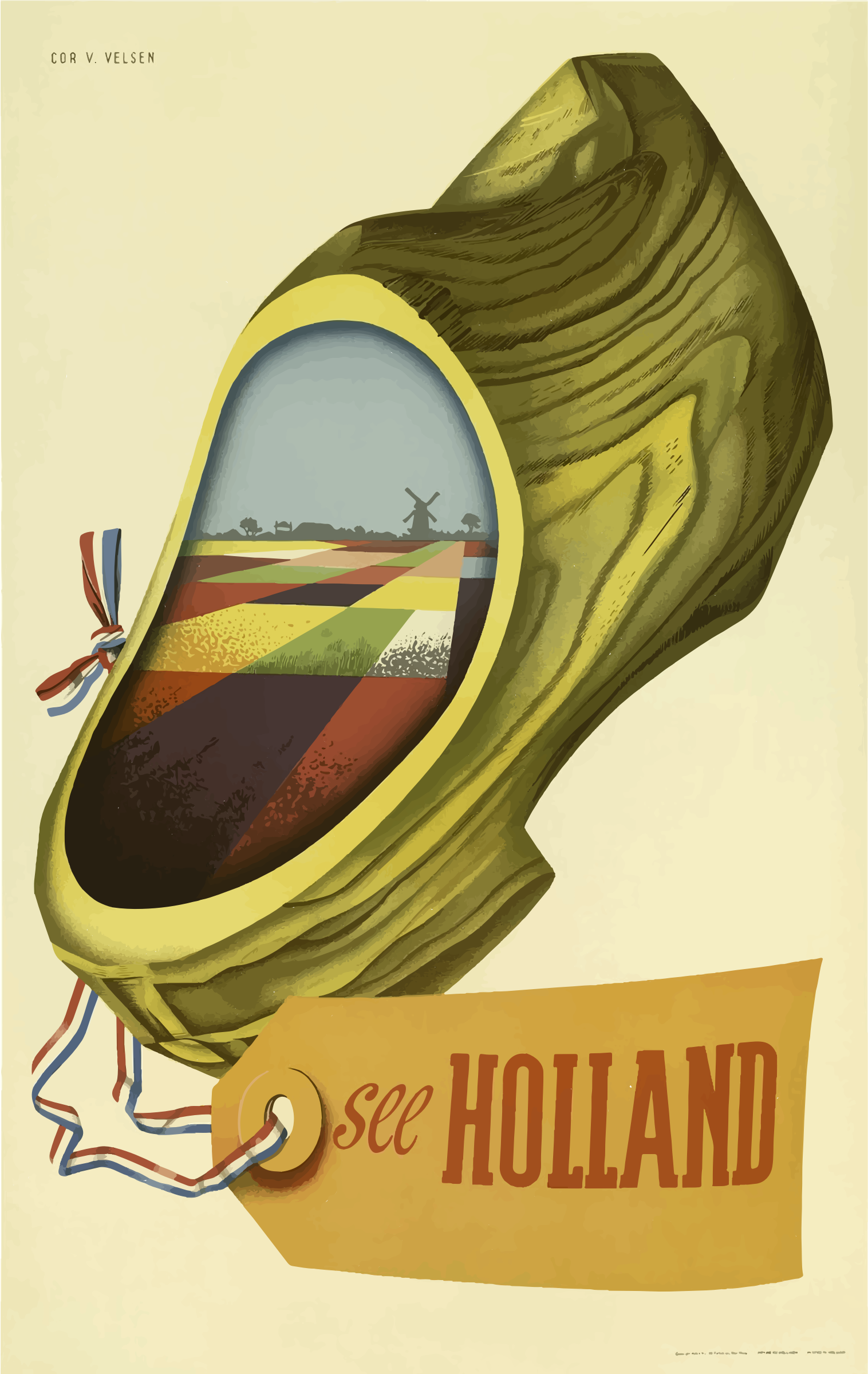 Vintage Travel Poster Holland by GDJ