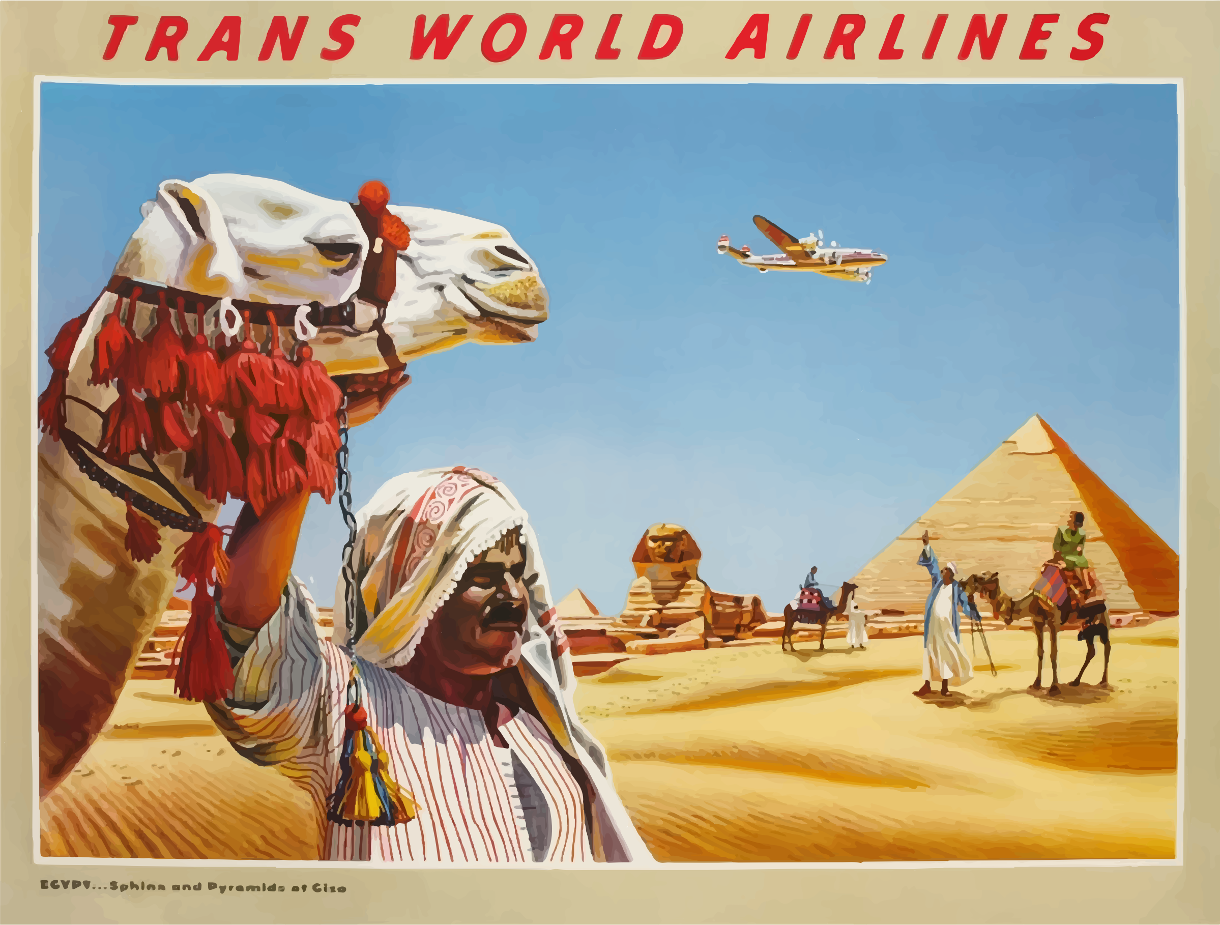 Vintage Travel Poster Egypt 3 by GDJ