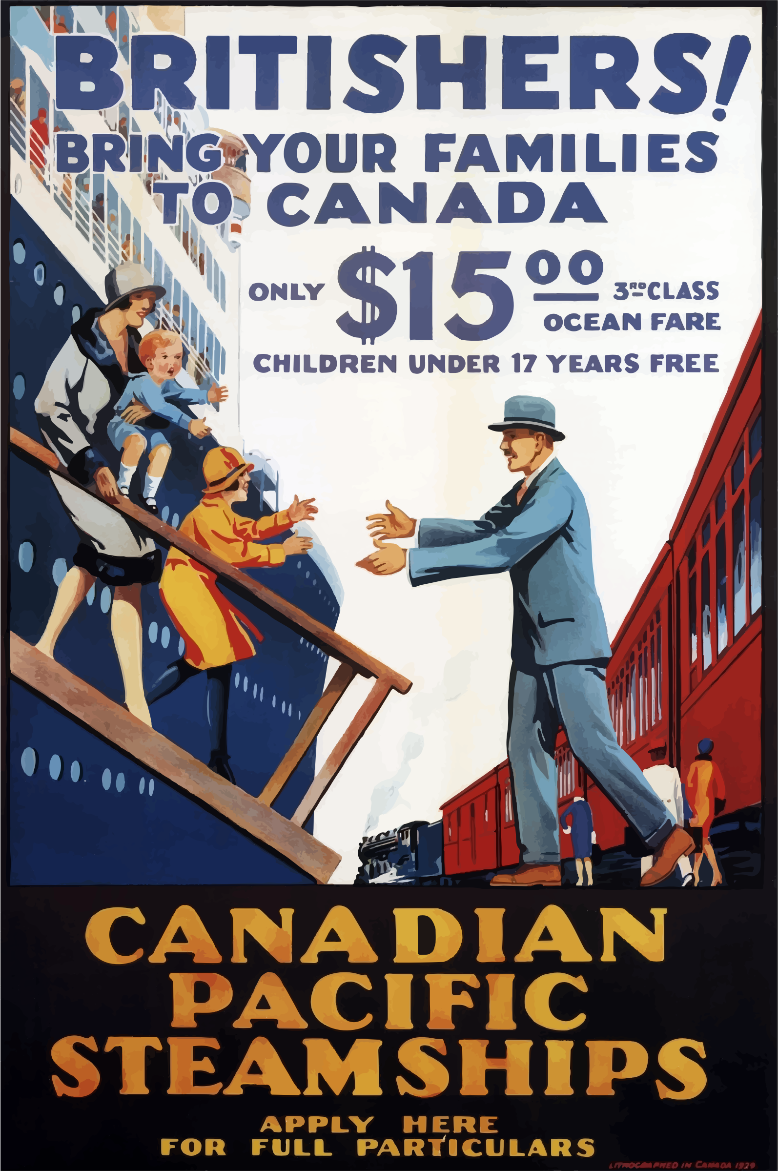 Vintage Travel Poster Canada 3 by GDJ