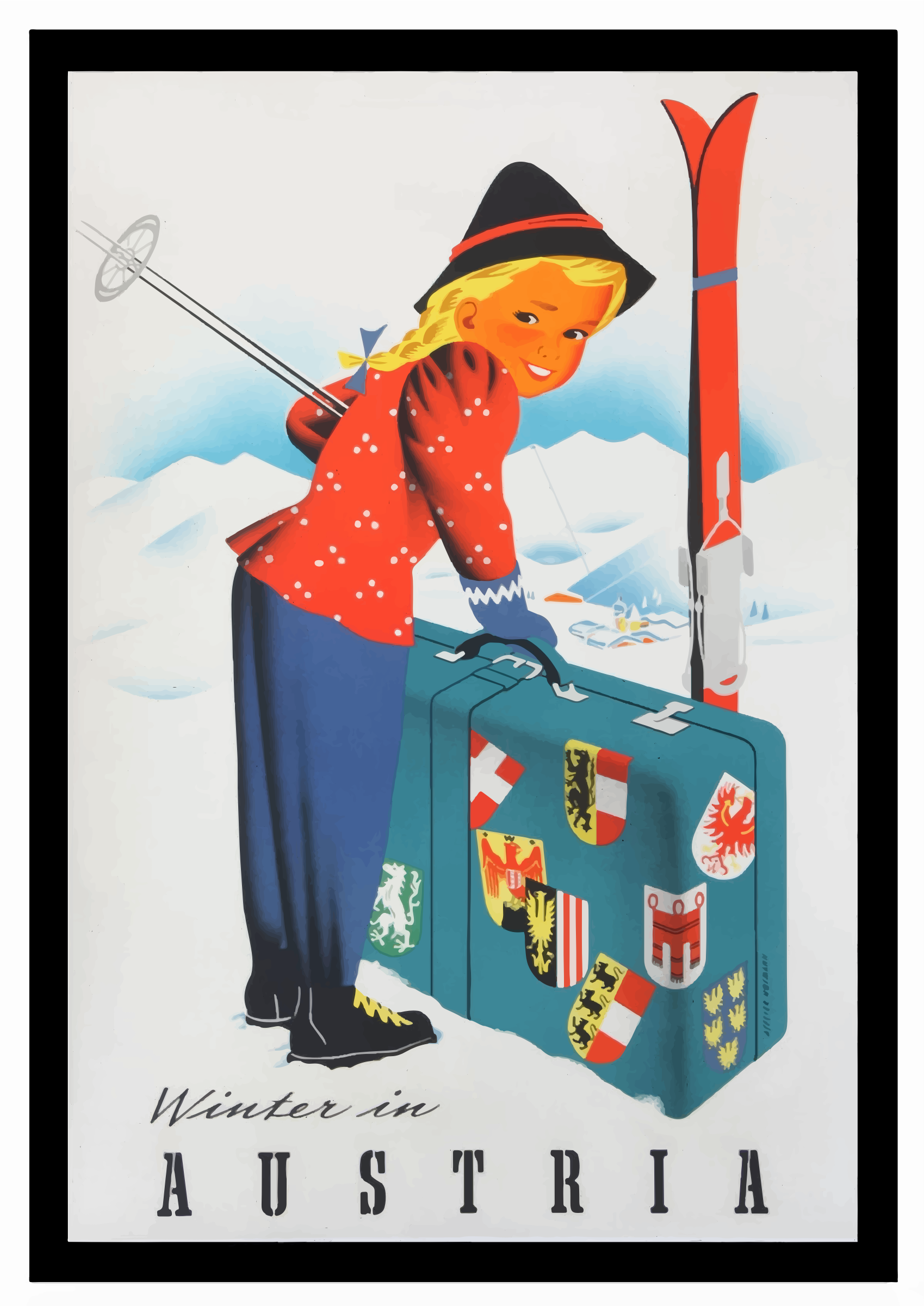 Vintage Travel Poster Austria 2 by GDJ