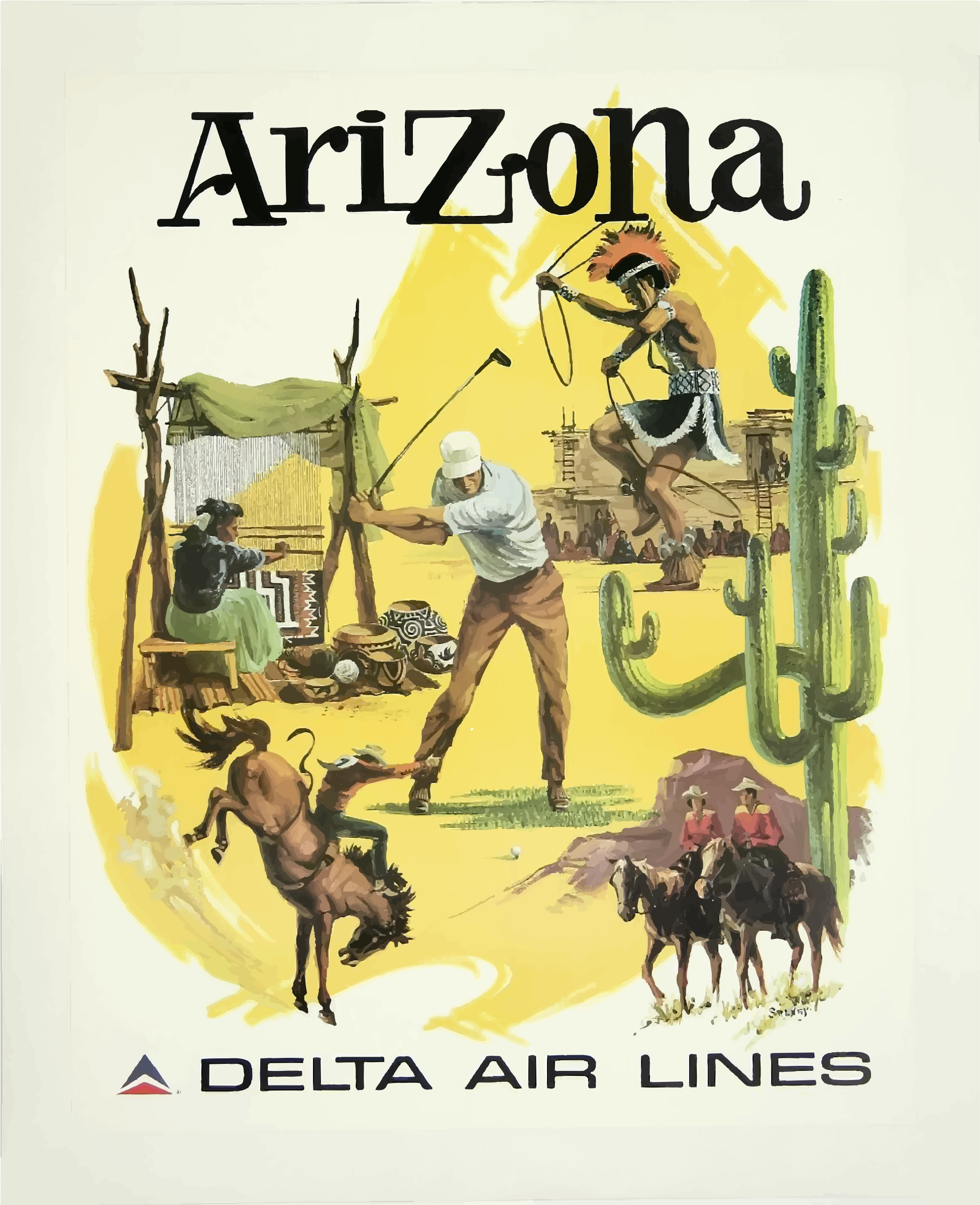 Vintage Travel Poster Arizona 2 by GDJ