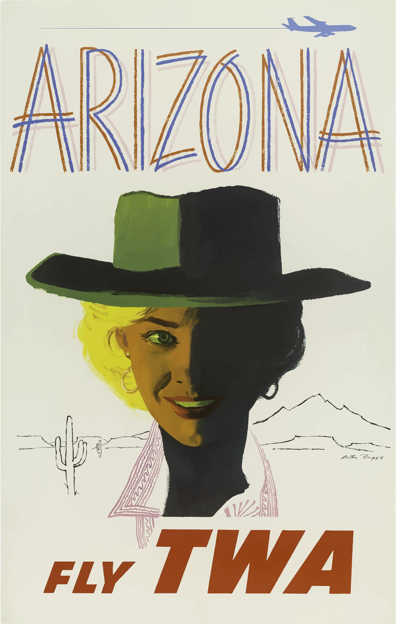 Vintage Travel Poster Arizona 3 by GDJ