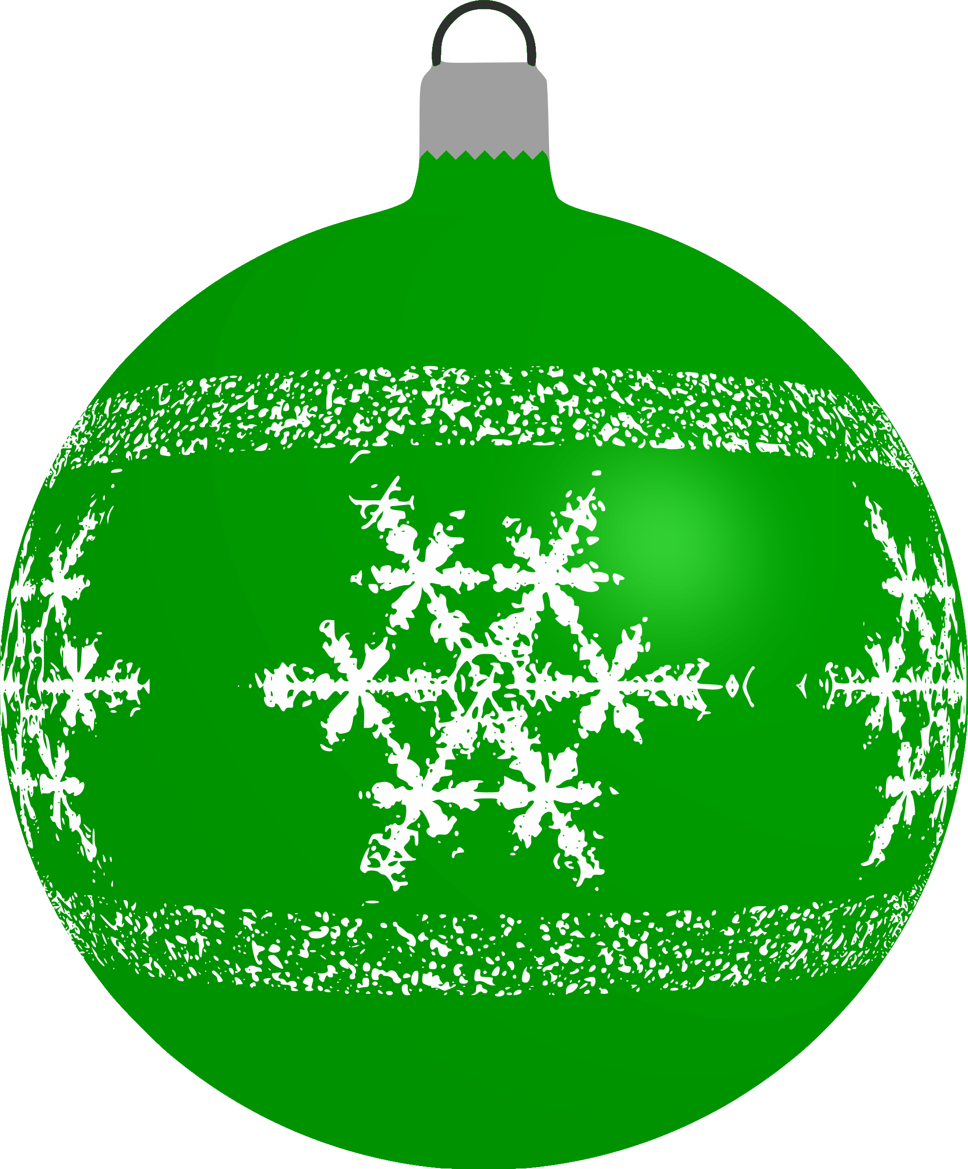 Patterned bauble 4 (green) by Firkin
