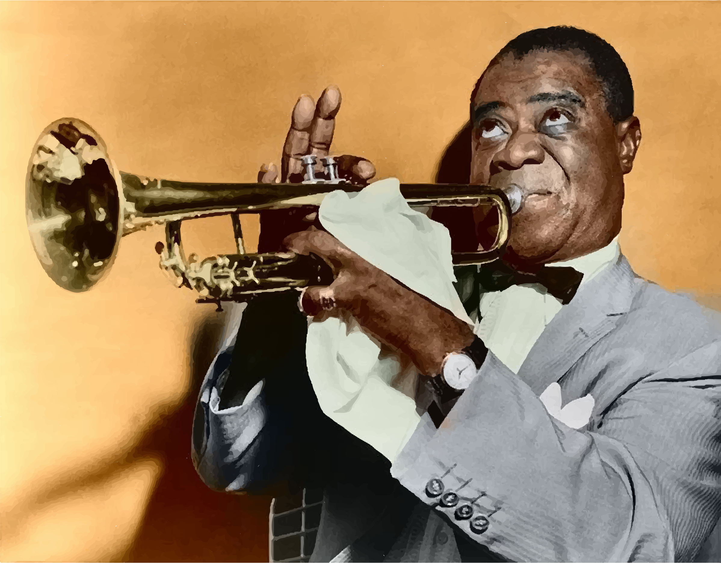 Louis Armstrong Restored Color by GDJ
