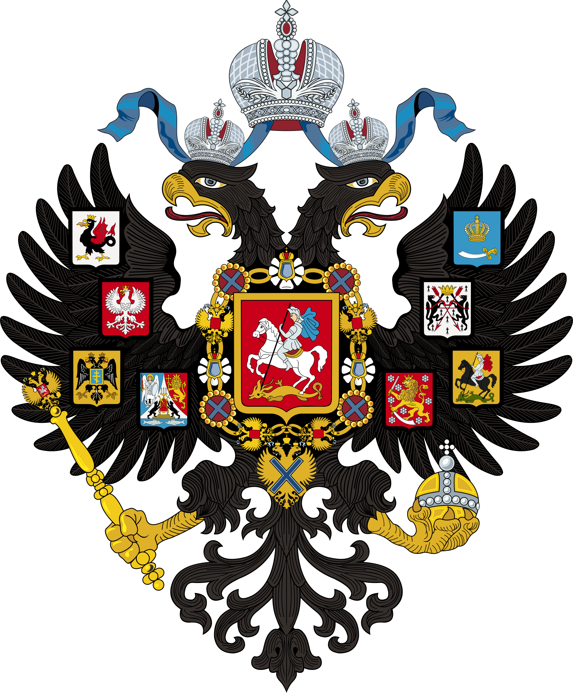 Lesser Coat of Arms of Russian Empire by GDJ