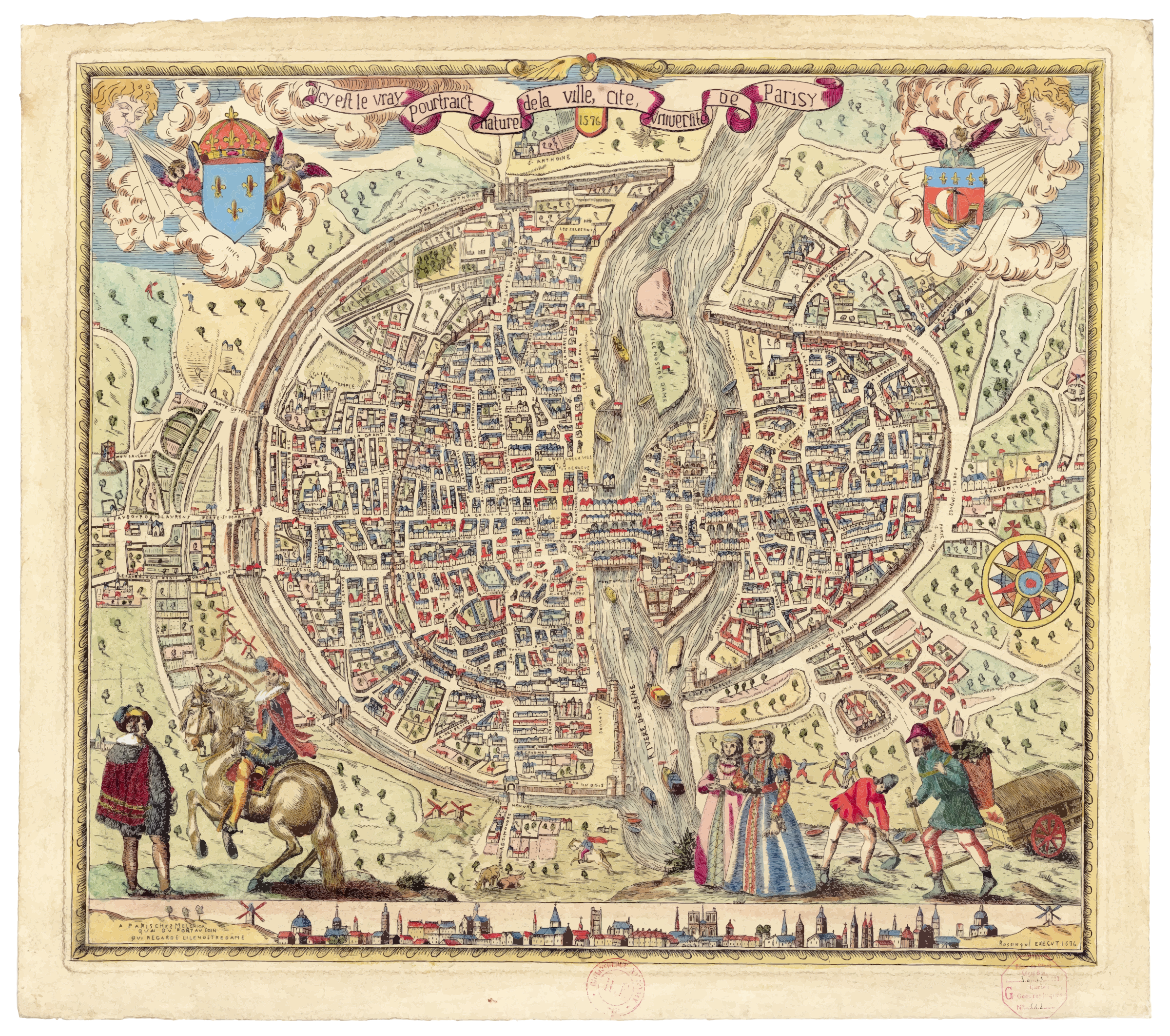 Map of Paris 1576 (Don't view in your browser, will crash) by GDJ