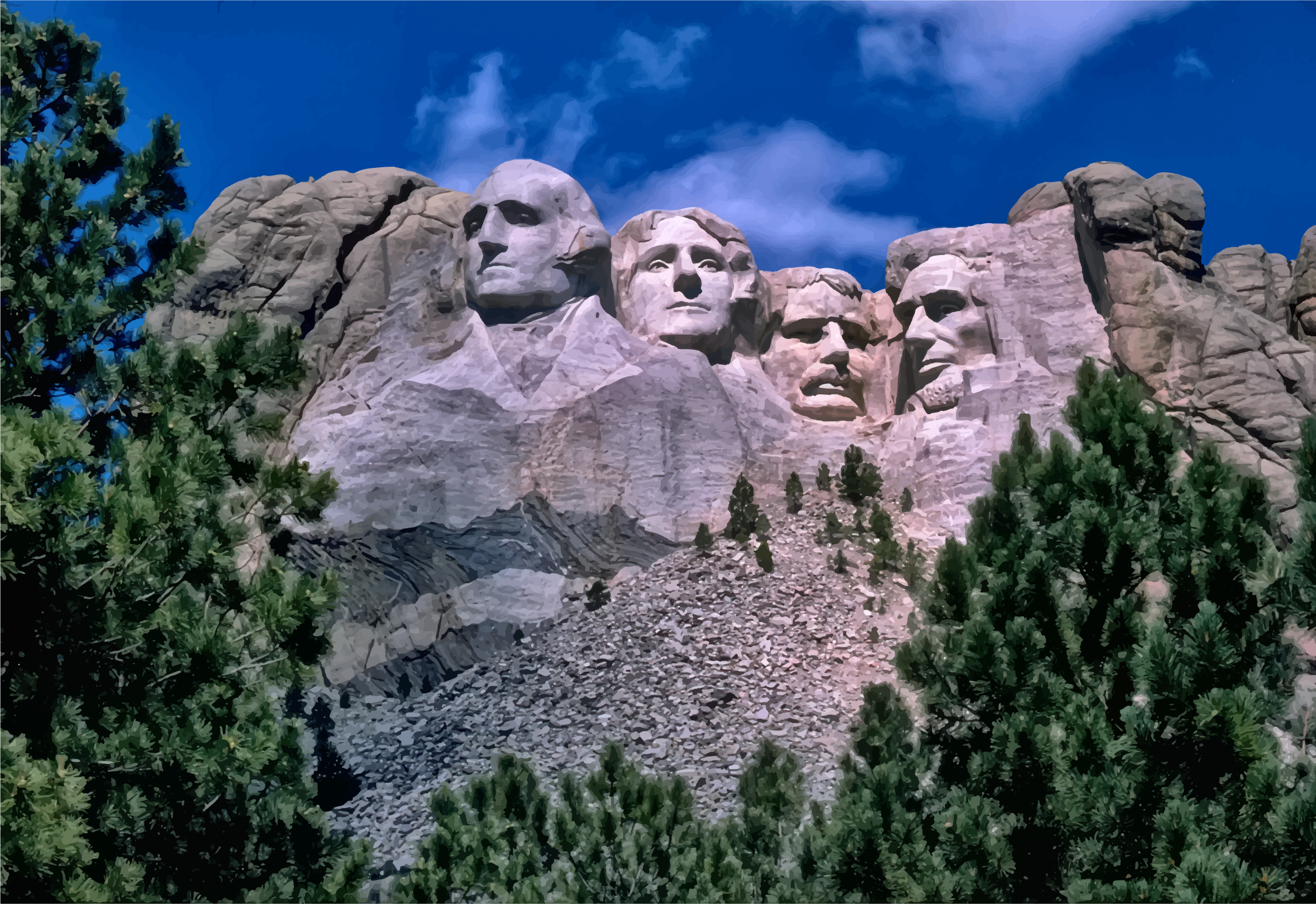 Mount Rushmore National Memorial Night by GDJ
