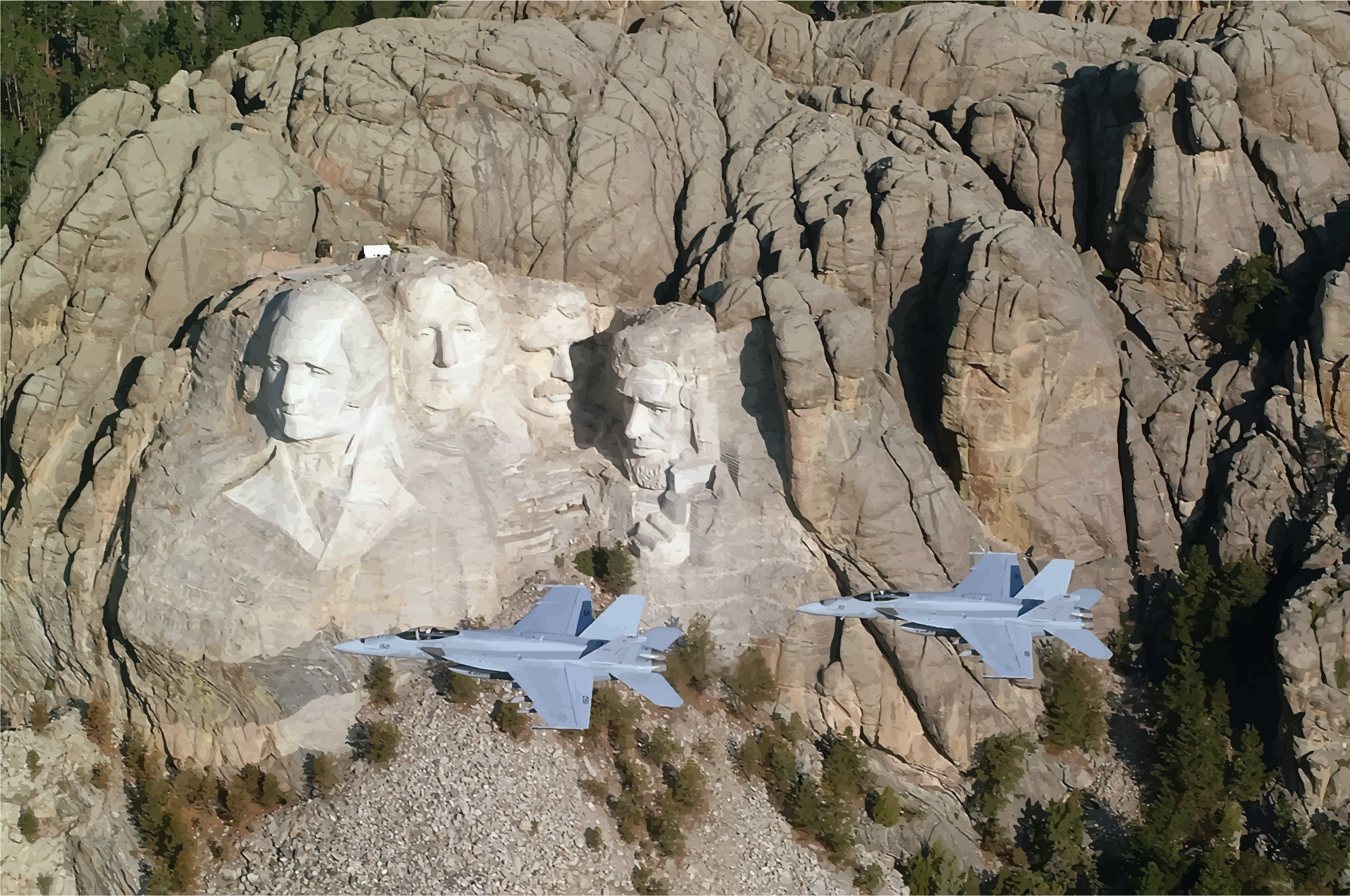Mount Rushmore National Memorial Two Hornets by GDJ