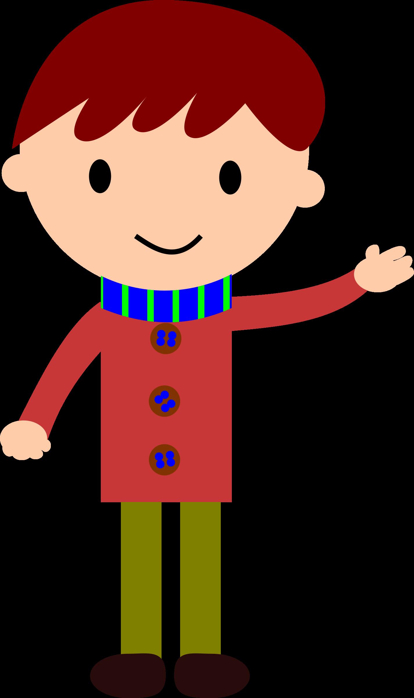 Clipart - boy waving hand (1425 x 2400 Pixel)