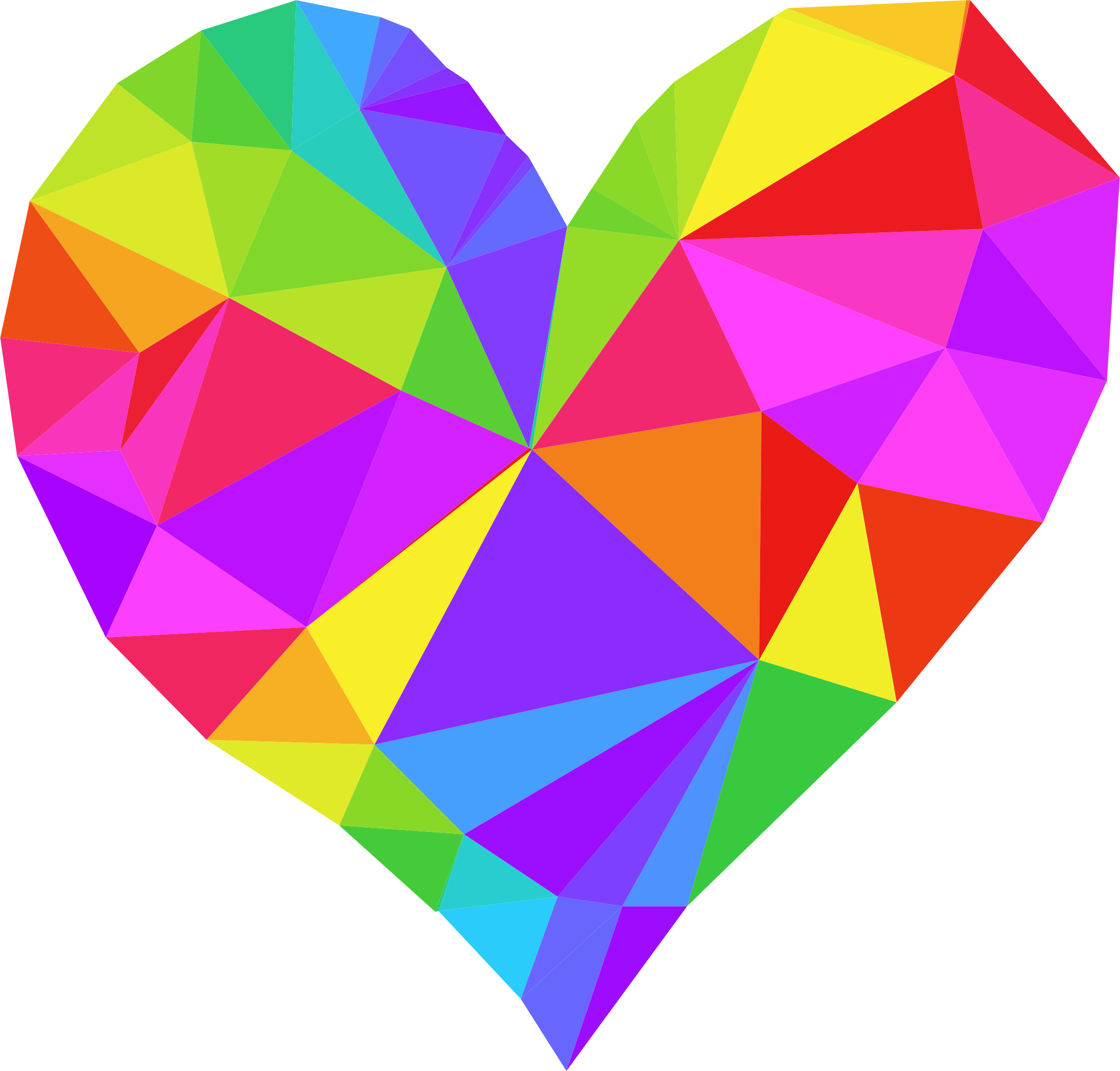 clipart low poly heart