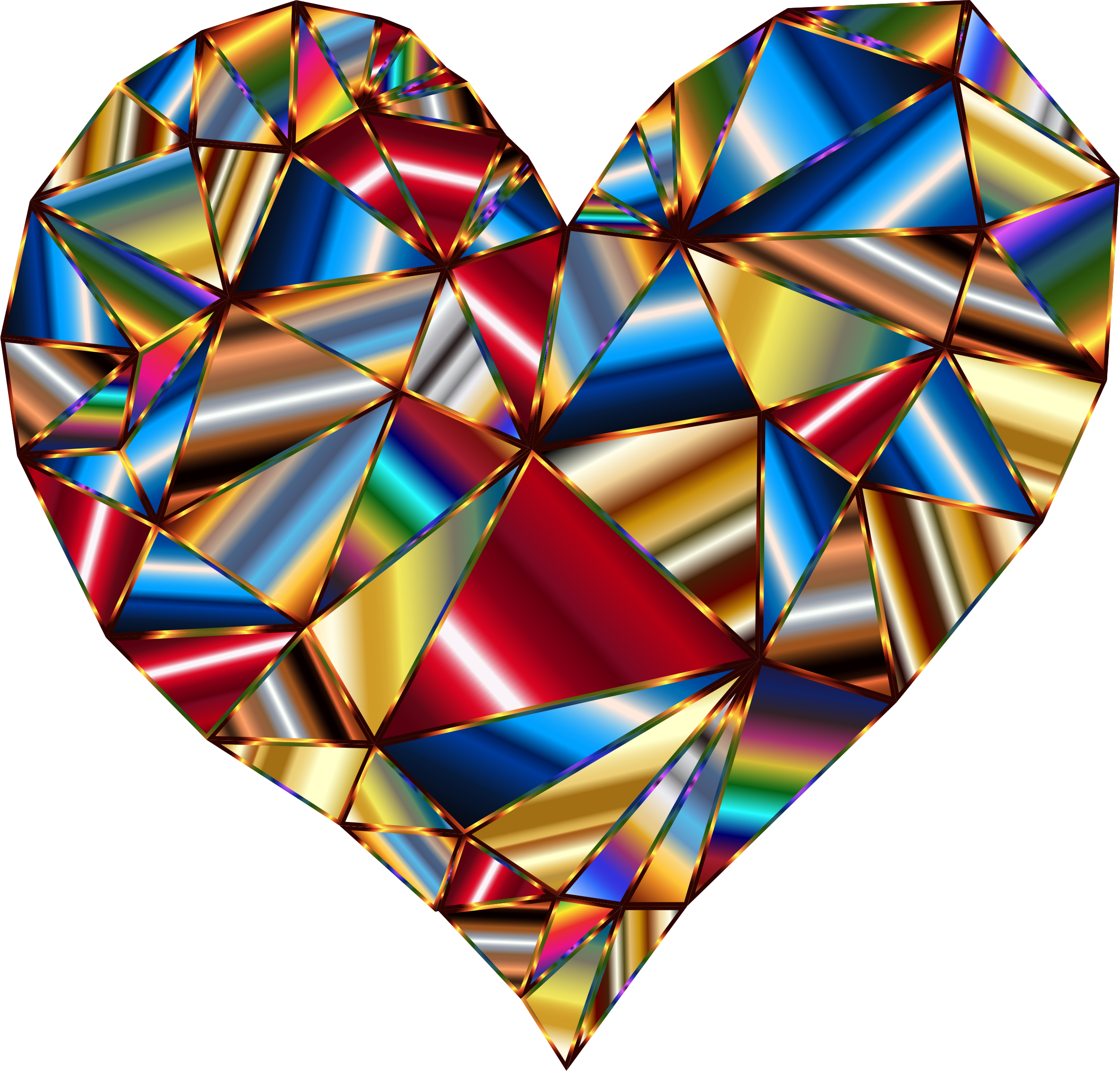 Polychromatic Low Poly Heart 3 by GDJ