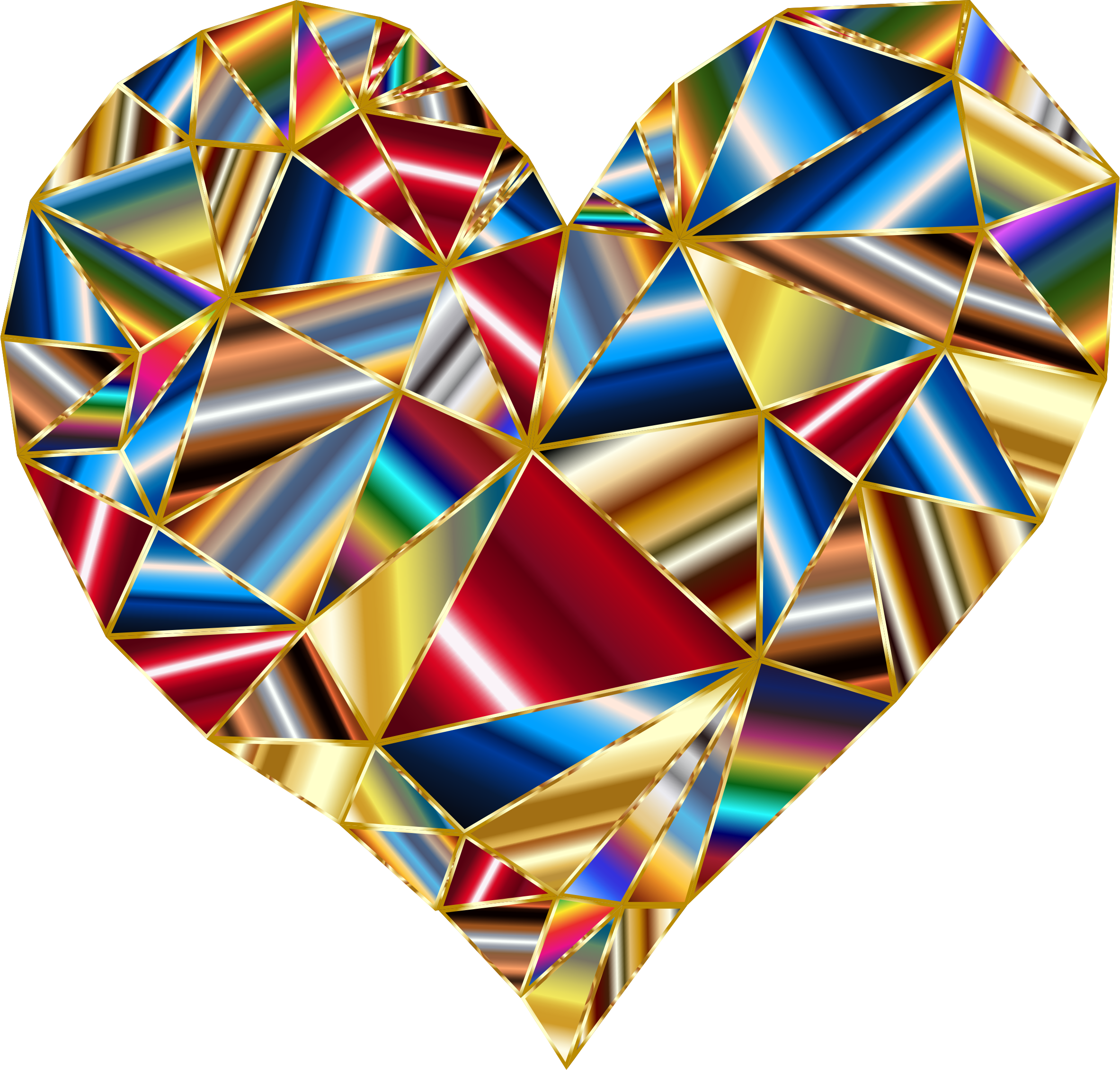 Polychromatic Low Poly Heart 4 by GDJ