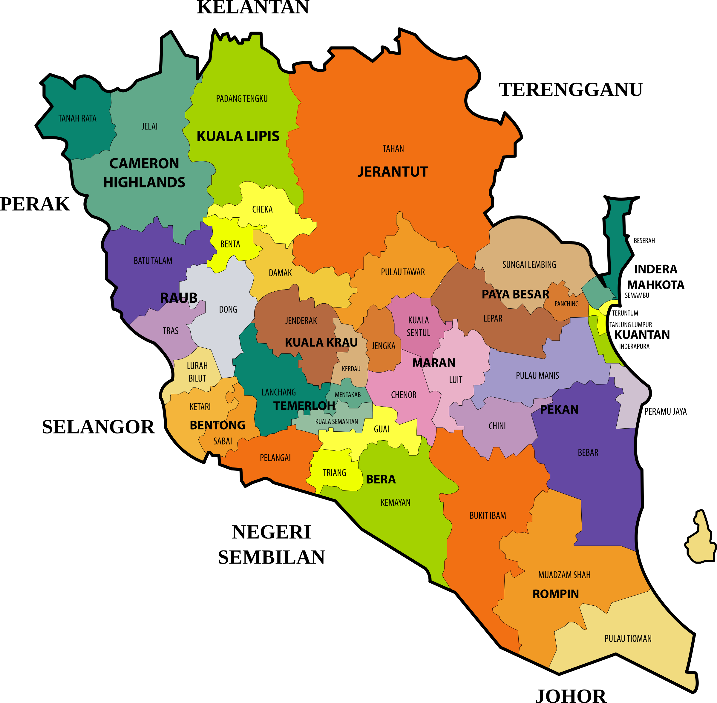 Pahang State Legislative Assembly Constituencies by derkommander0916