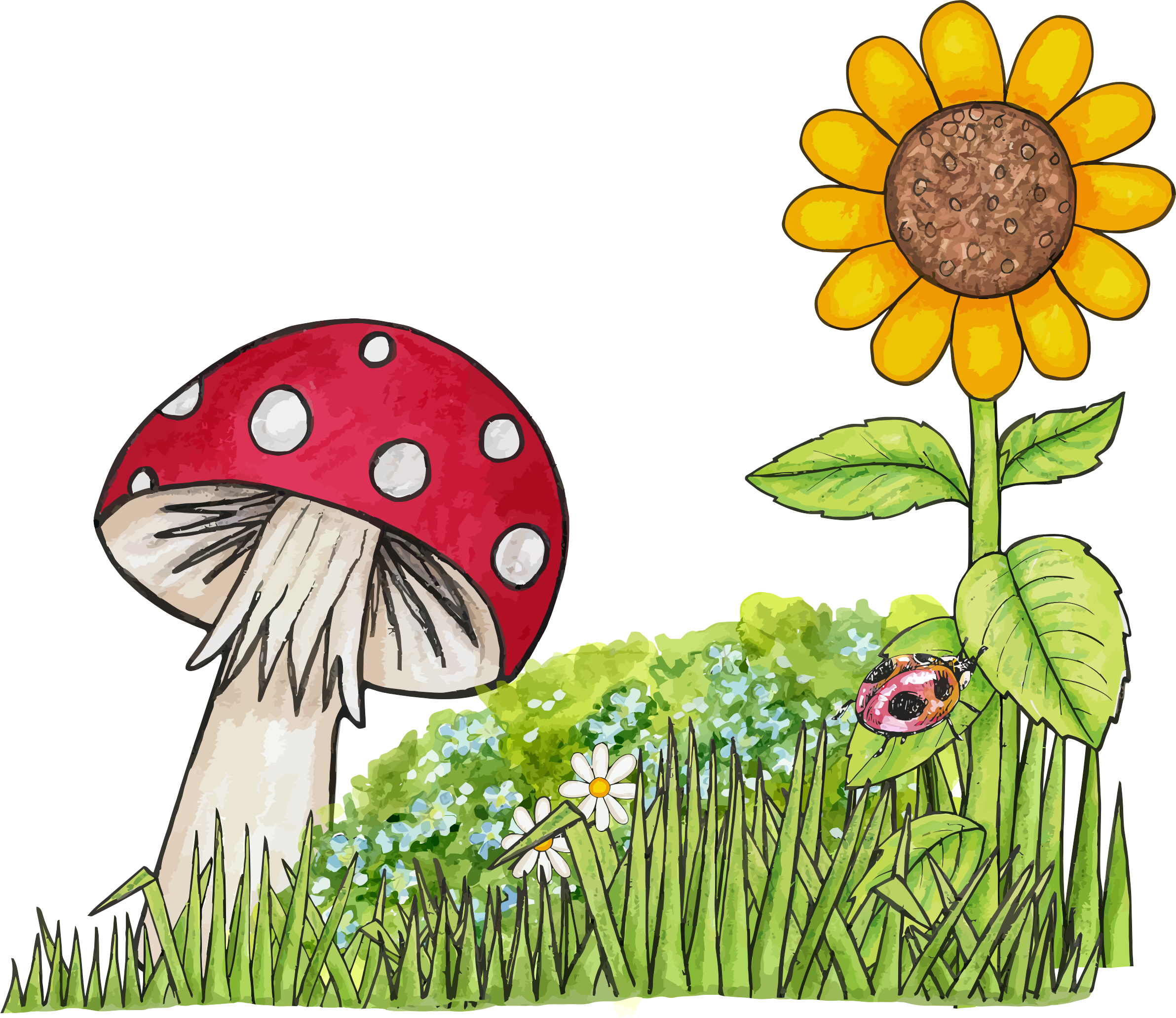 Toadstool Scene by GDJ