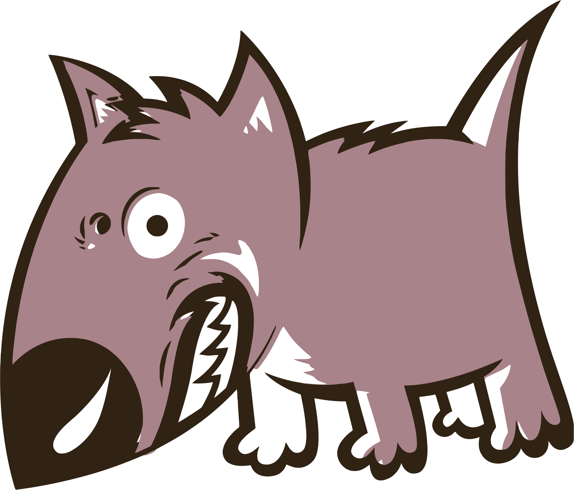 Angry Growling Cartoon Dog by GDJ