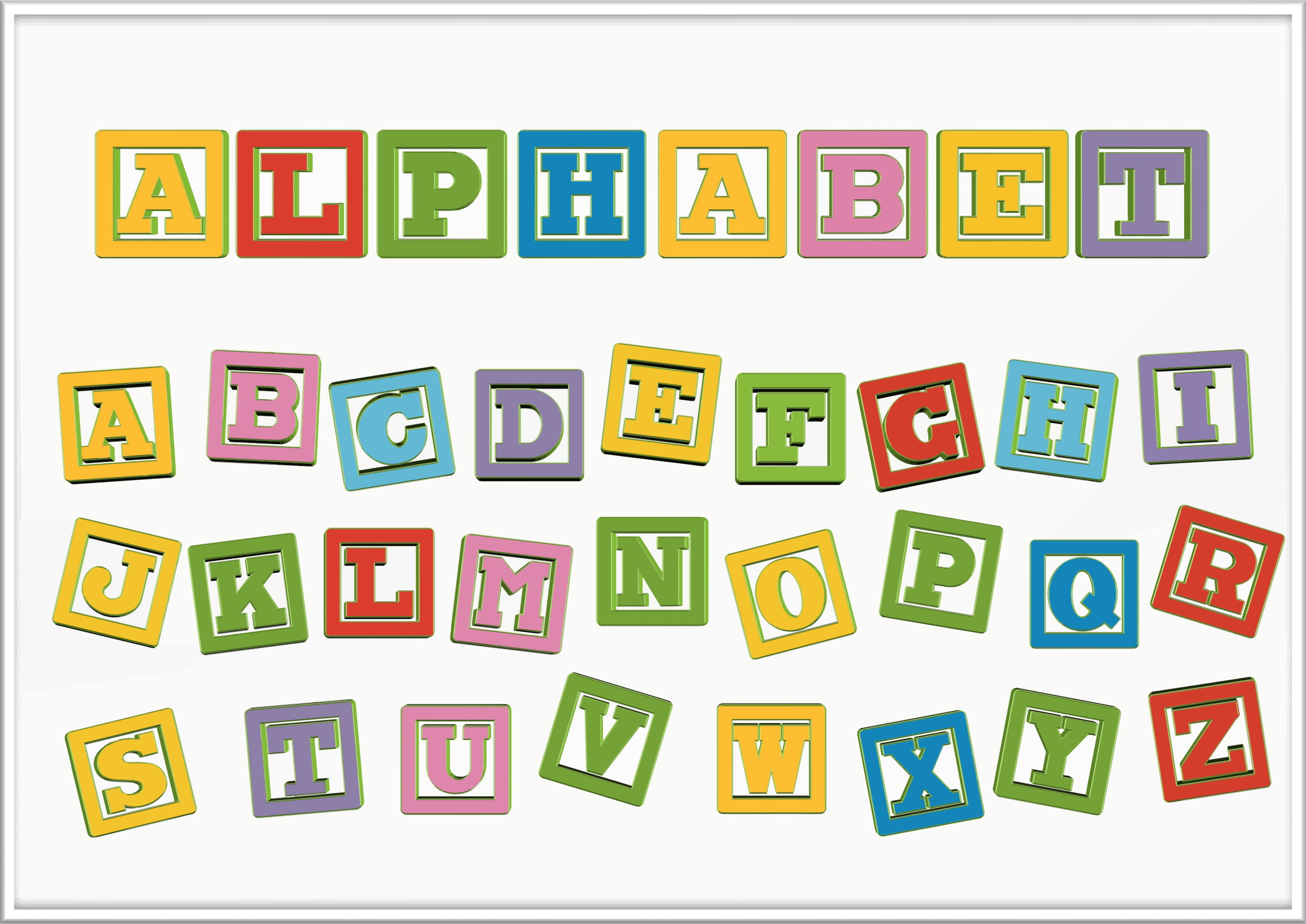 Worksheets Alphabet  Letter clipart alphabet letter blocks blocks