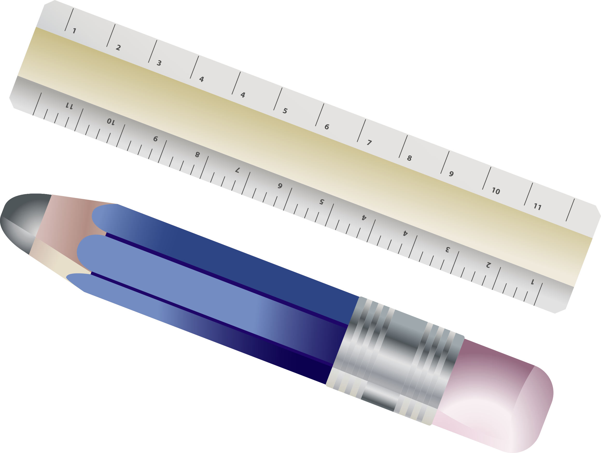 Ruler And Pencil by GDJ