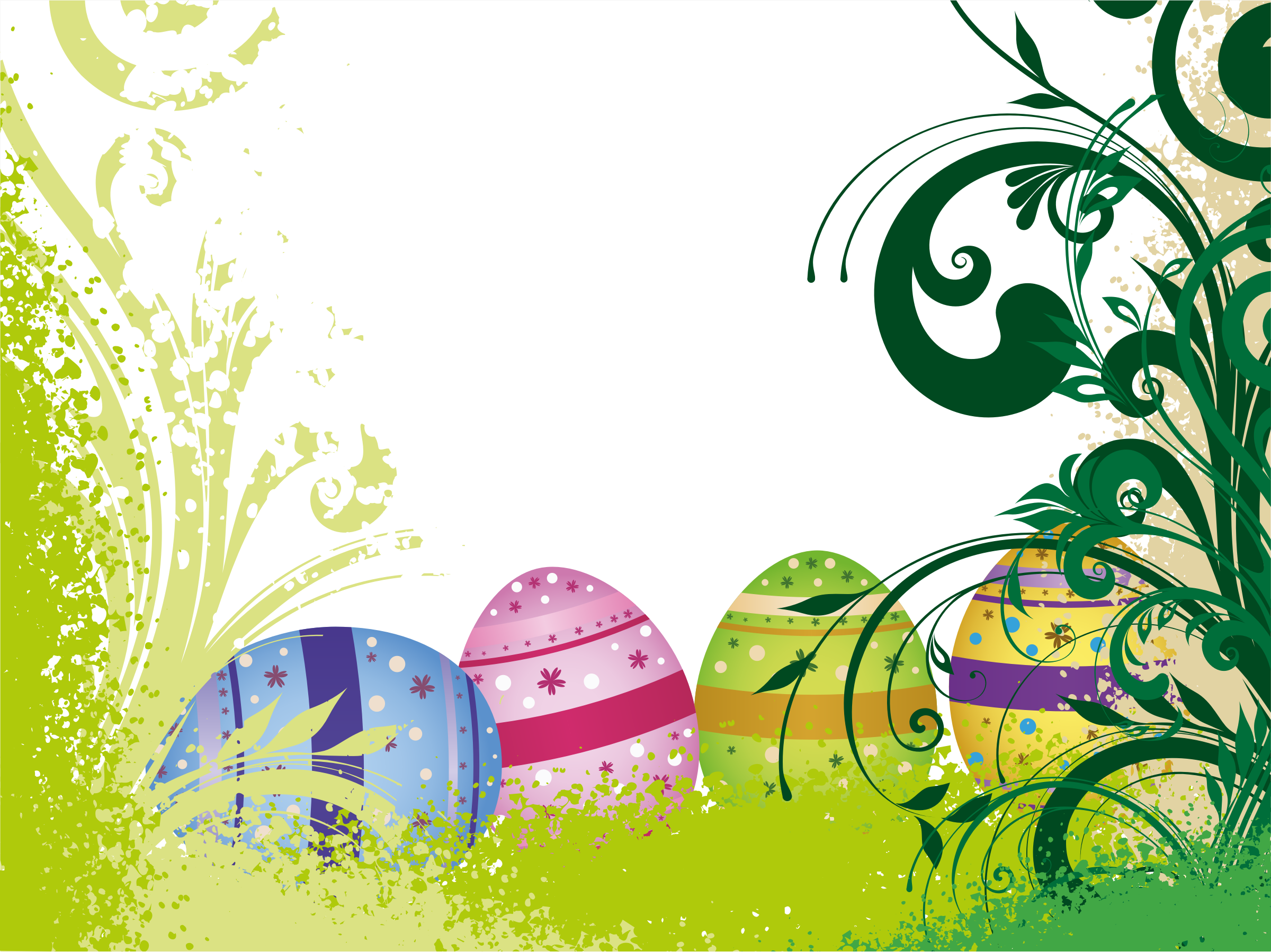Easter Eggs Flourish by GDJ