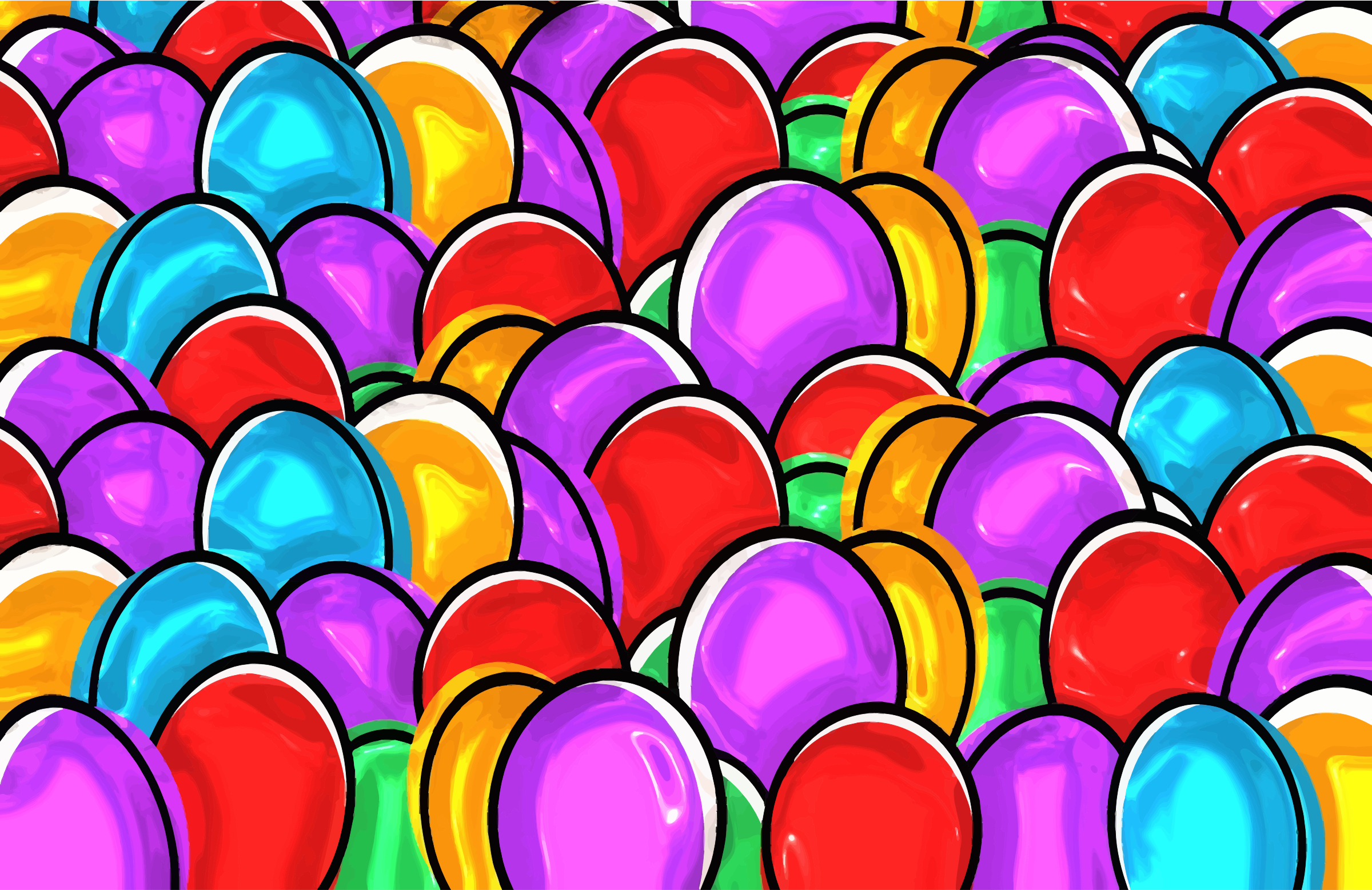 Colorful Easter Eggs by GDJ