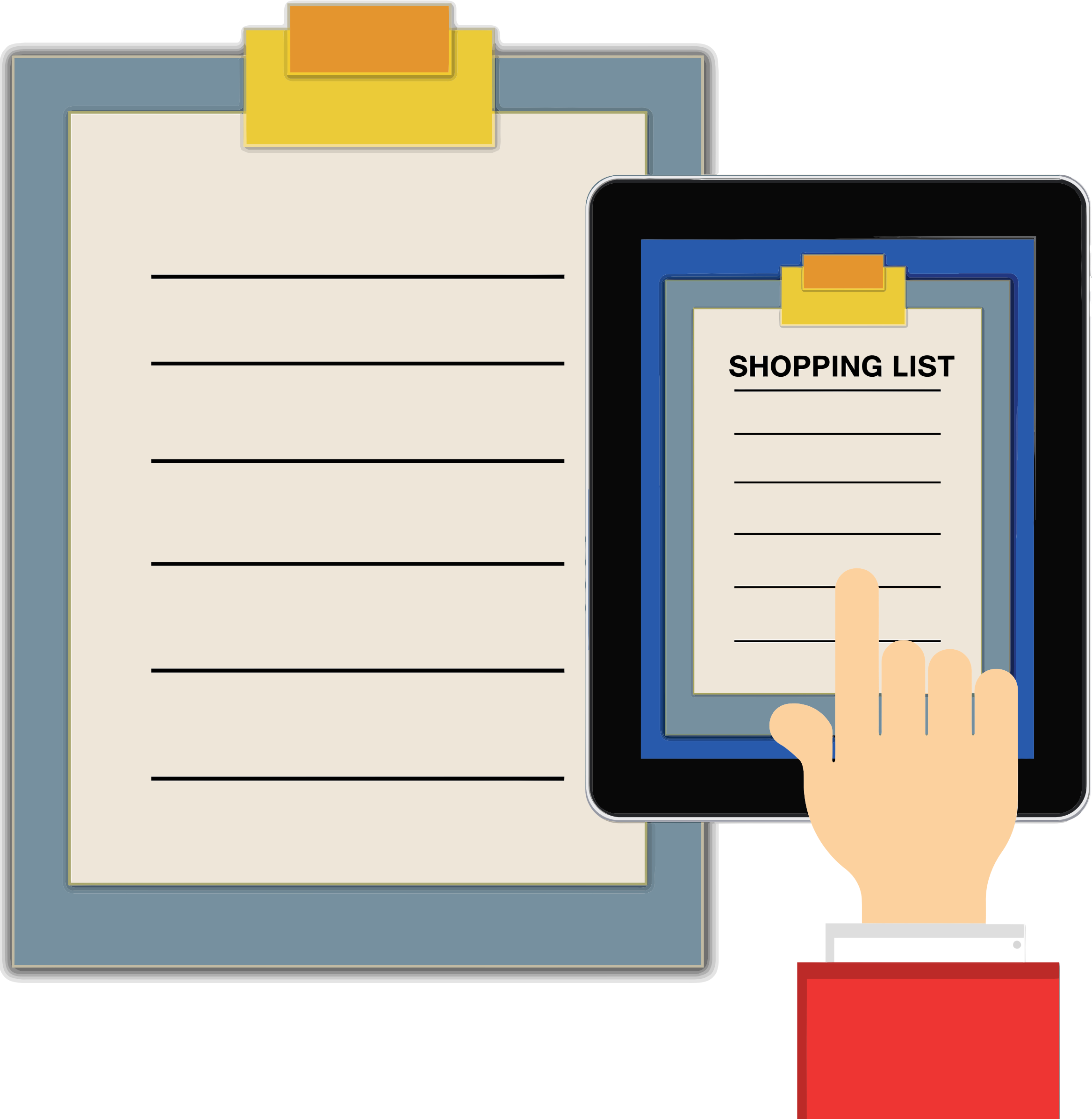 Shopping List Clipboard Tablet by GDJ