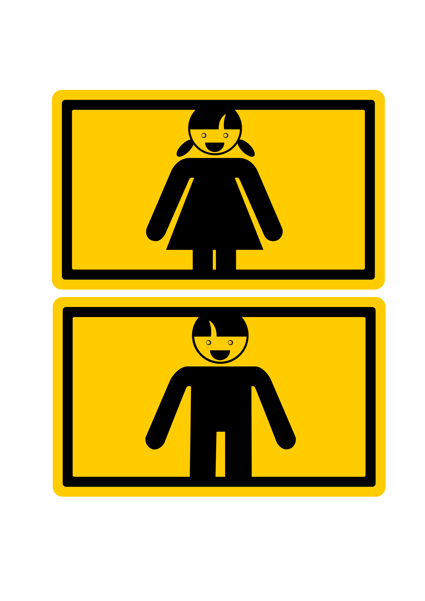 Man and Woman Sign by artyom_rzhanov