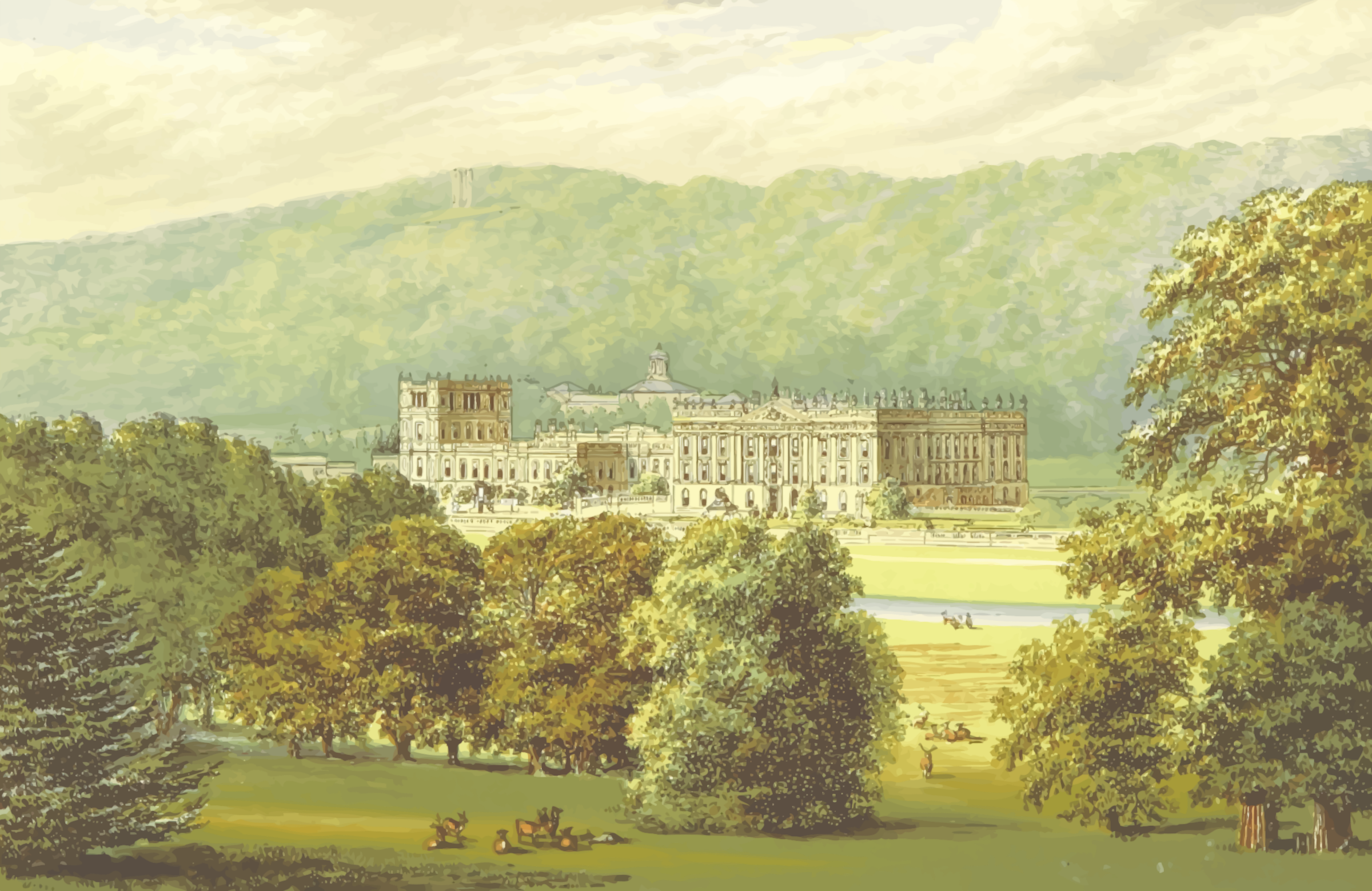 Chatsworth House by Firkin