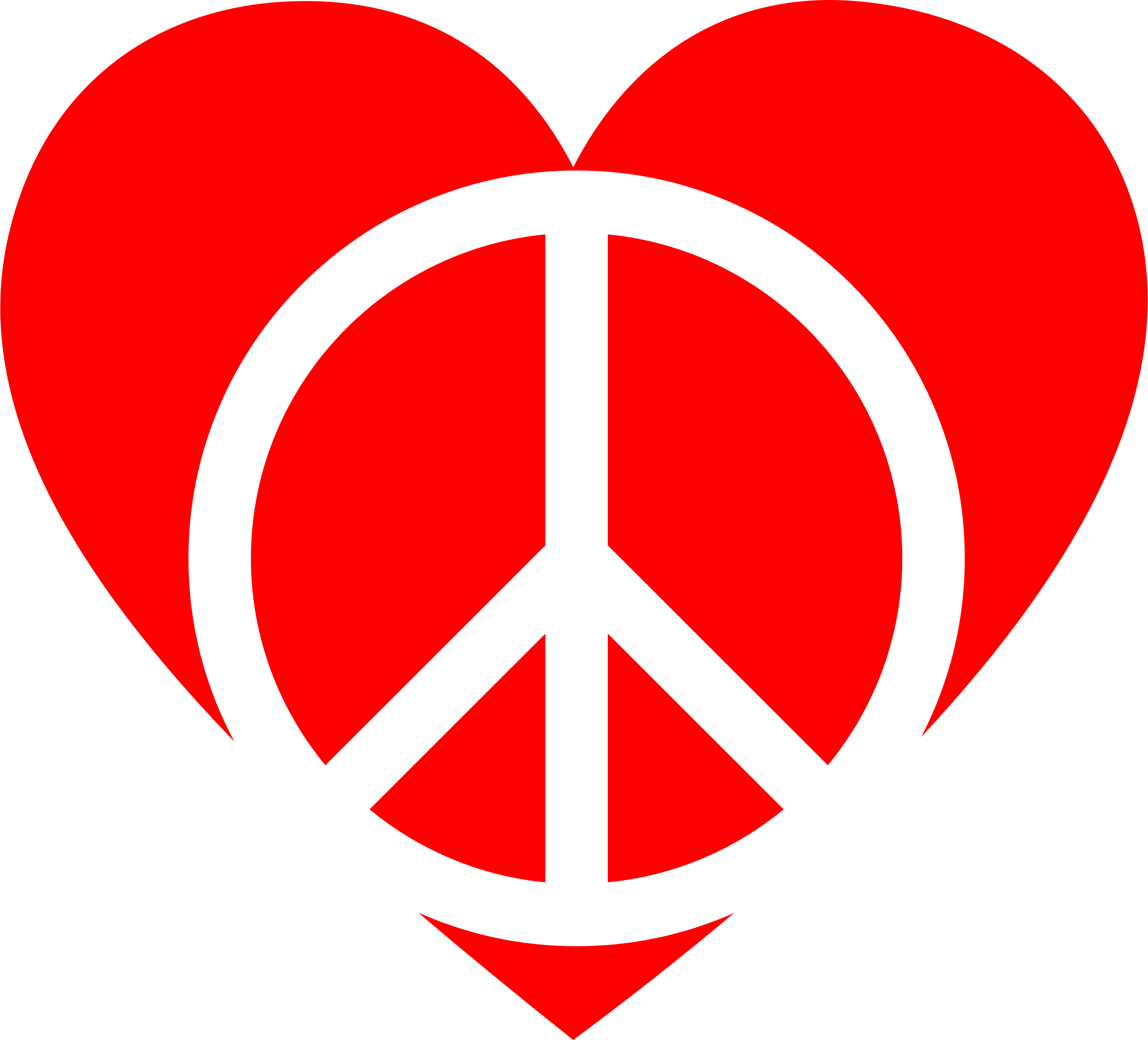 Red Peace Heart by GDJ