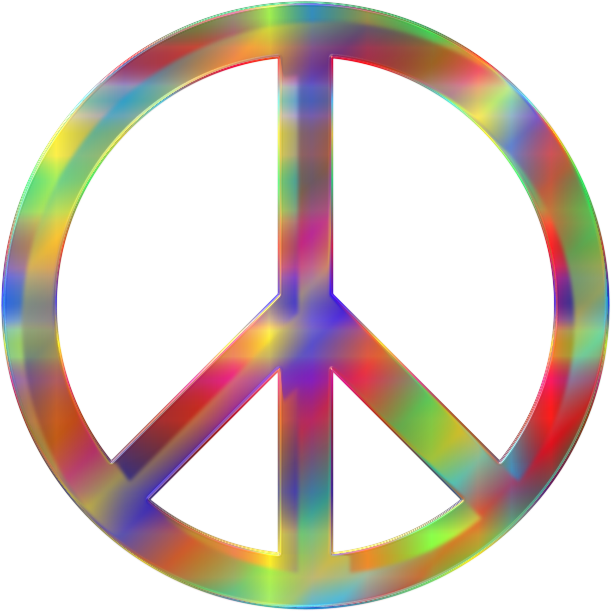 Psychedelic Peace Sign by GDJ