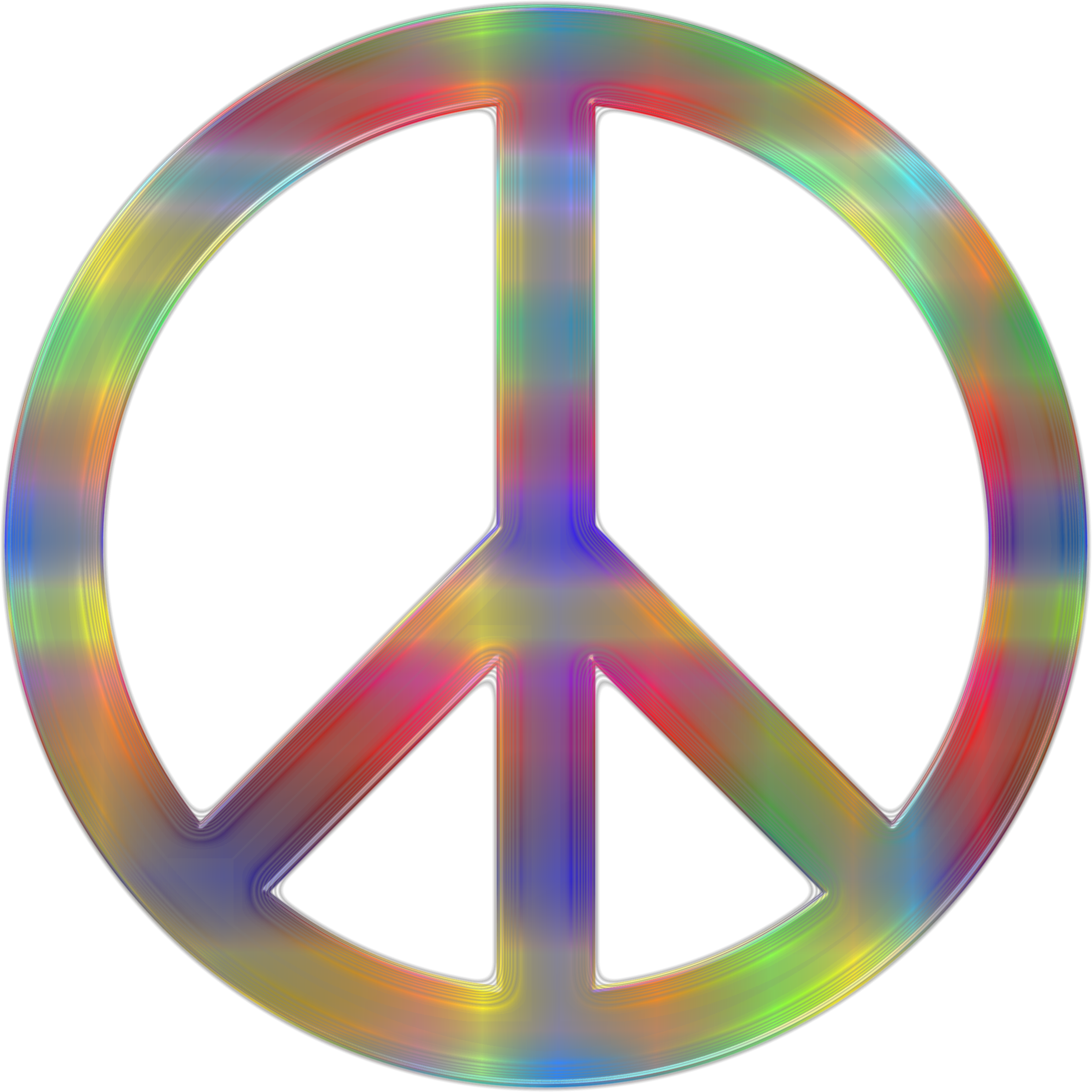 Psychedelic Peace Sign 2 by GDJ