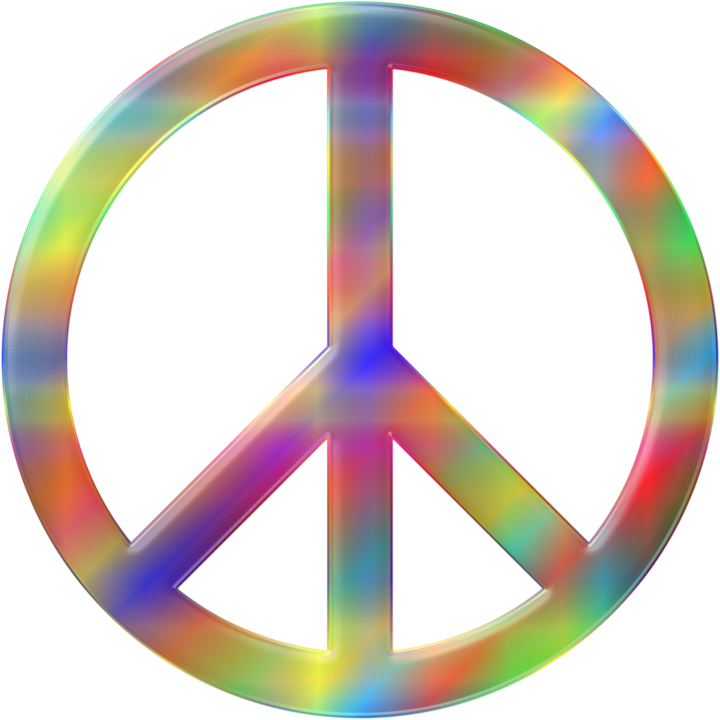 Psychedelic Peace Sign 3 by GDJ