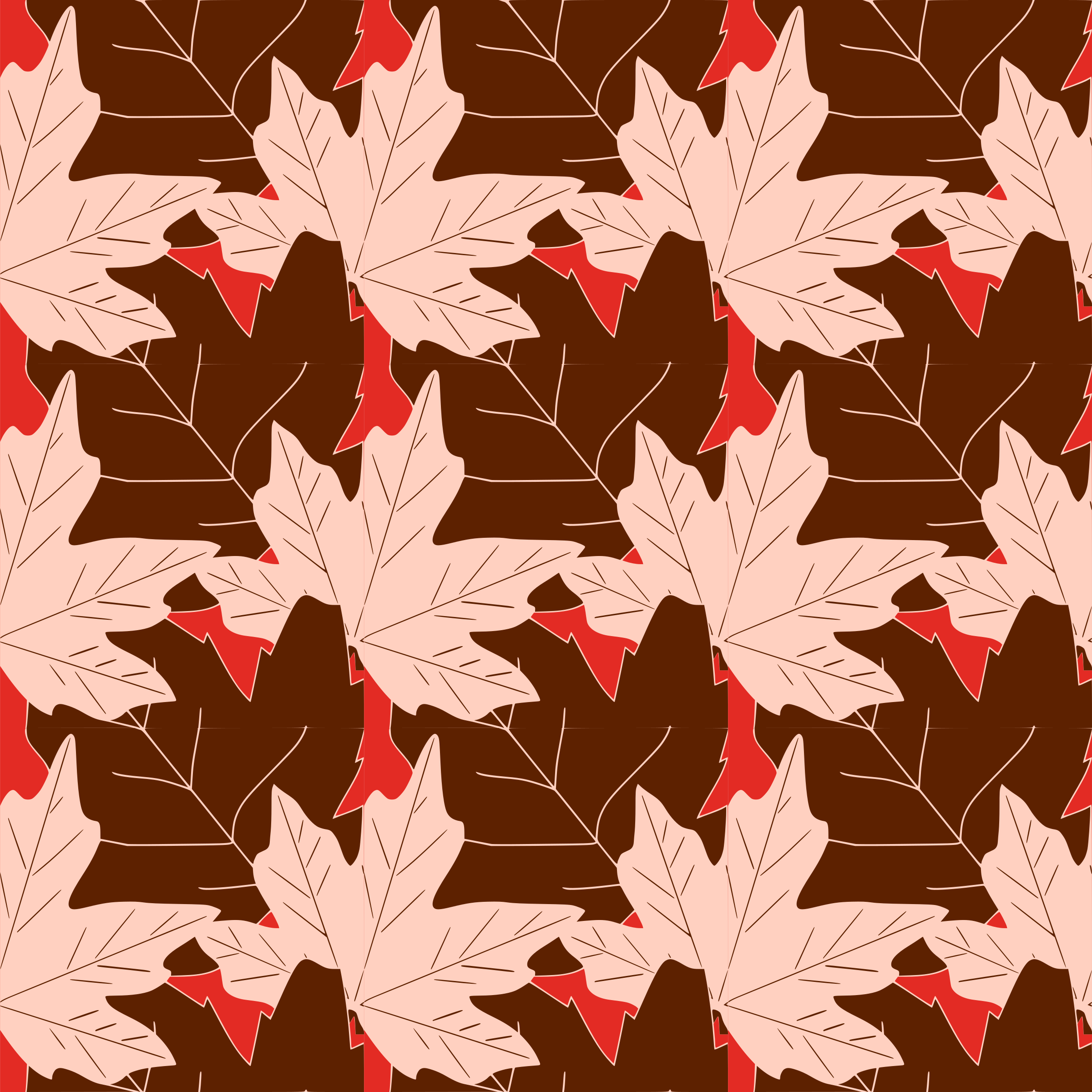 Autumn leaves -seamless pattern by yamachem