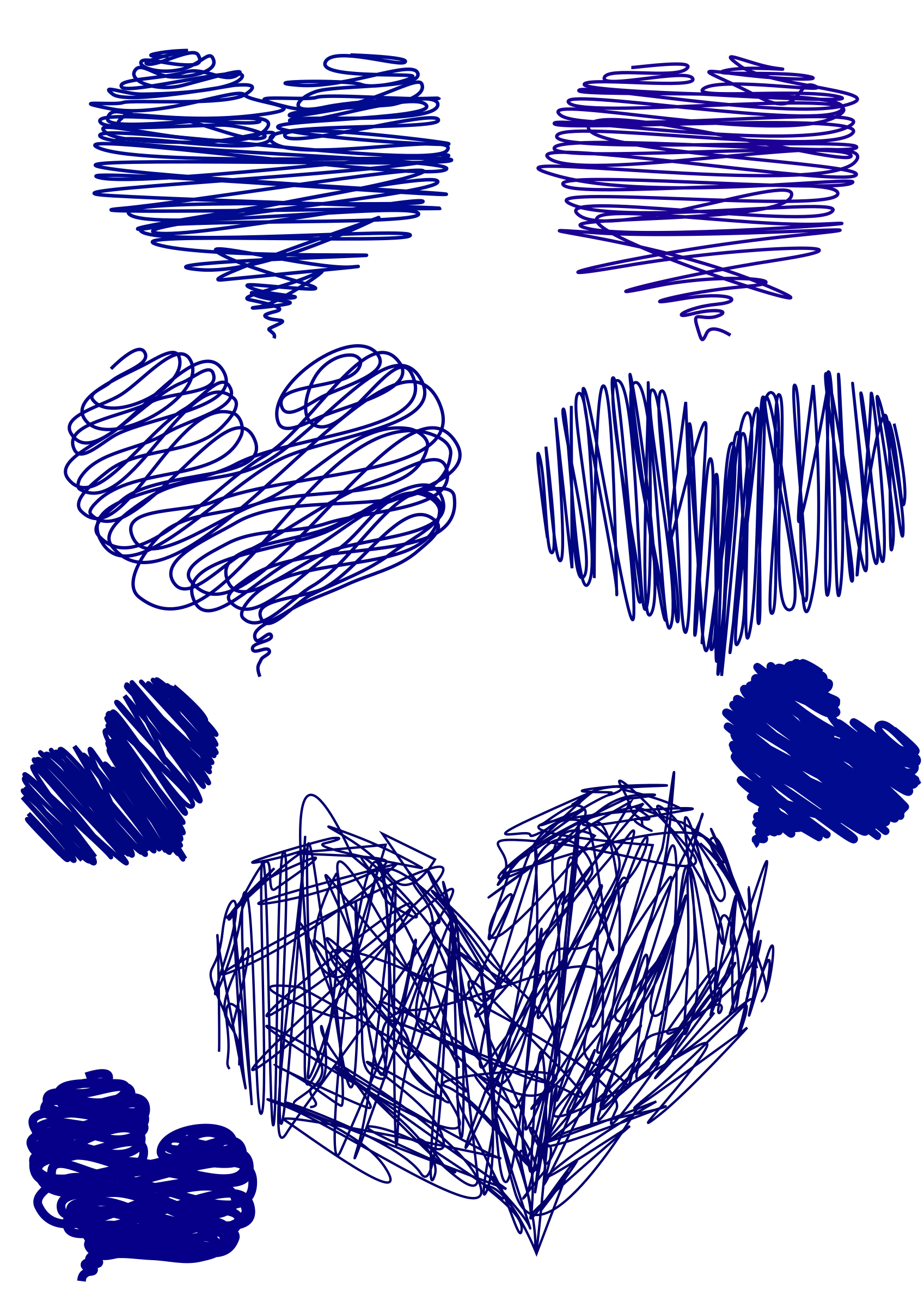 blue hand drawn Heart by Ana.
