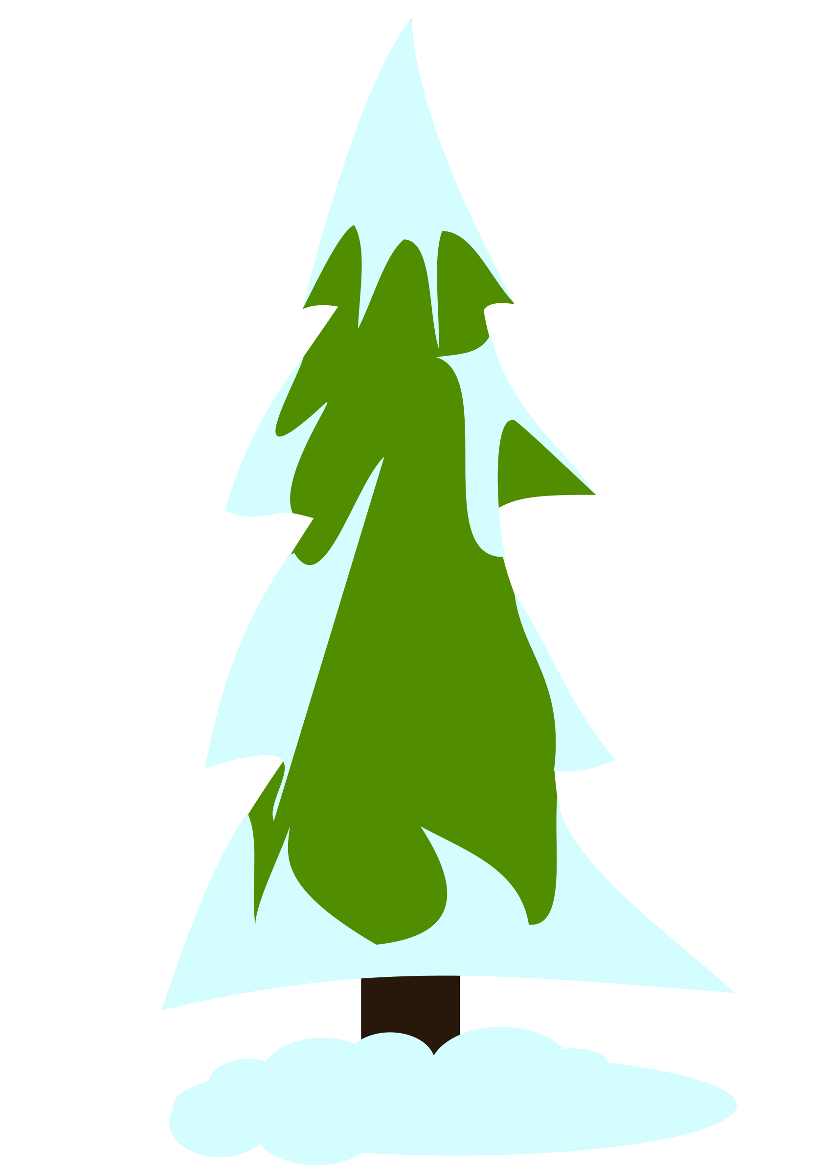 Clipart - Snowy pine tree