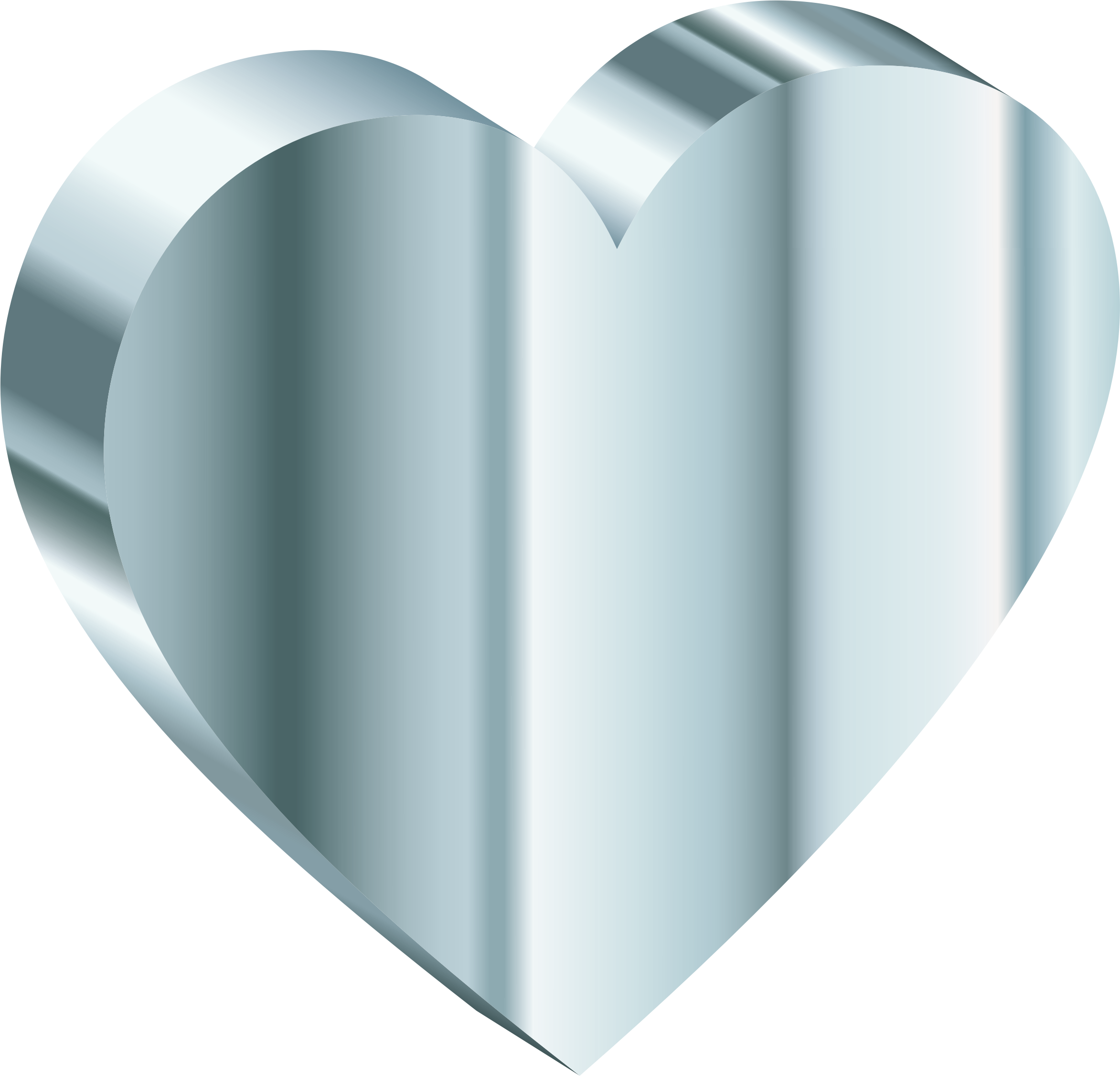 3D Heart Of Silver by GDJ