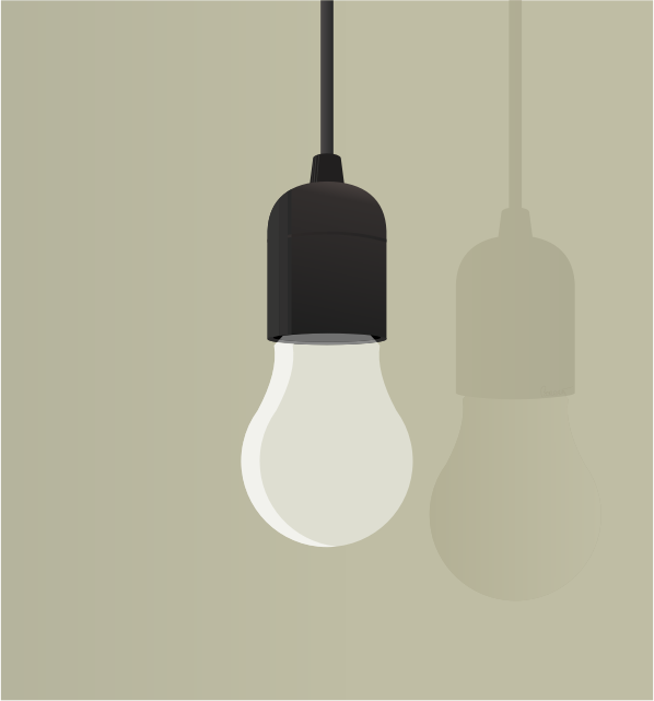 Lightbulb Hanging From Ceiling by barrettward
