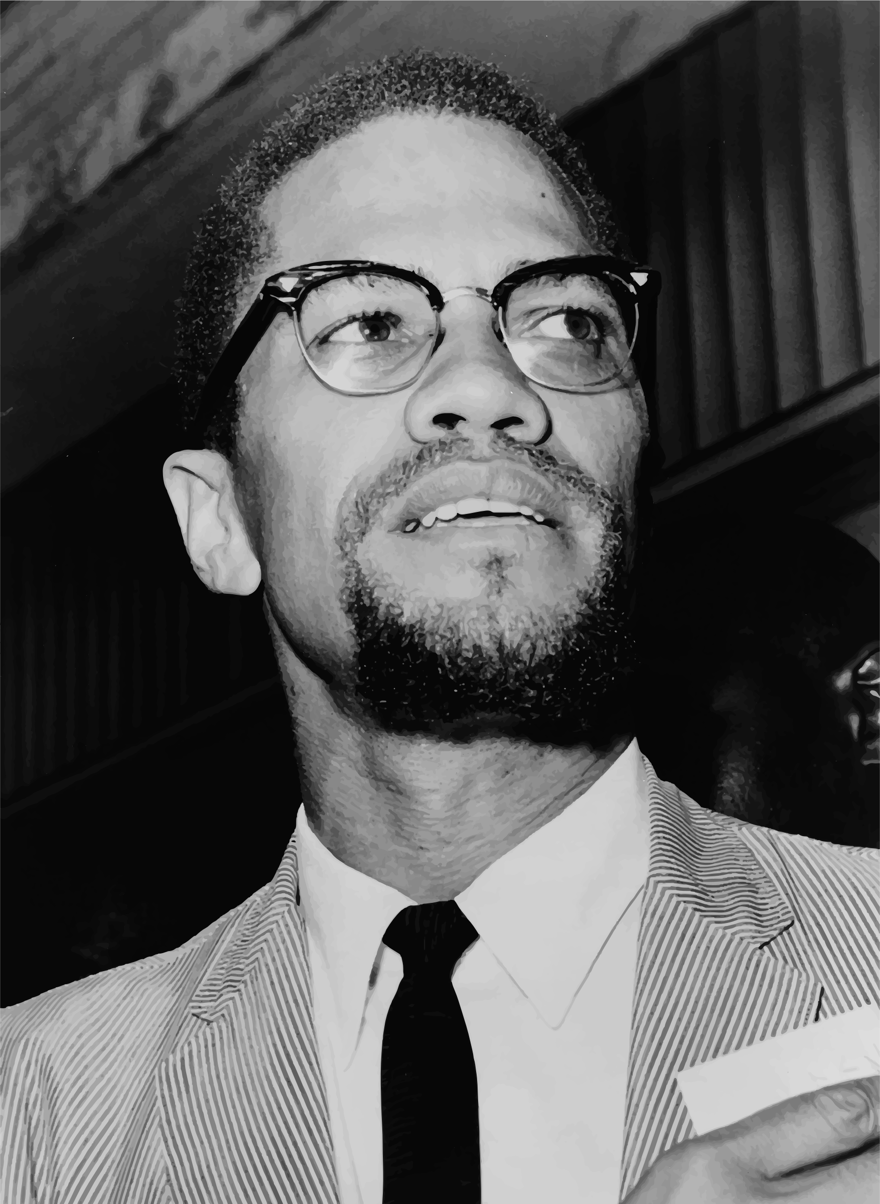 Malcolm X At Queens Court by GDJ