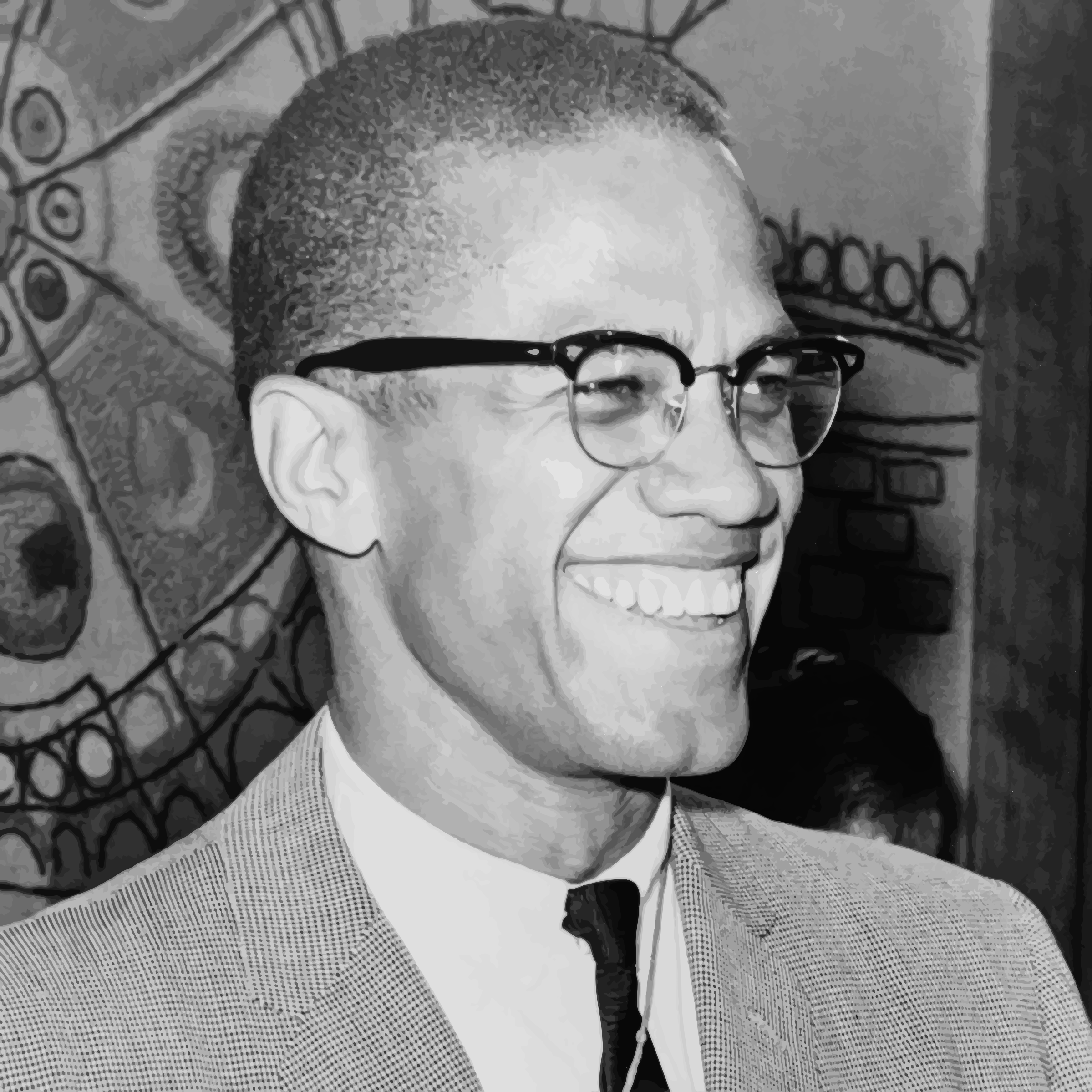 Malcolm X Smile by GDJ
