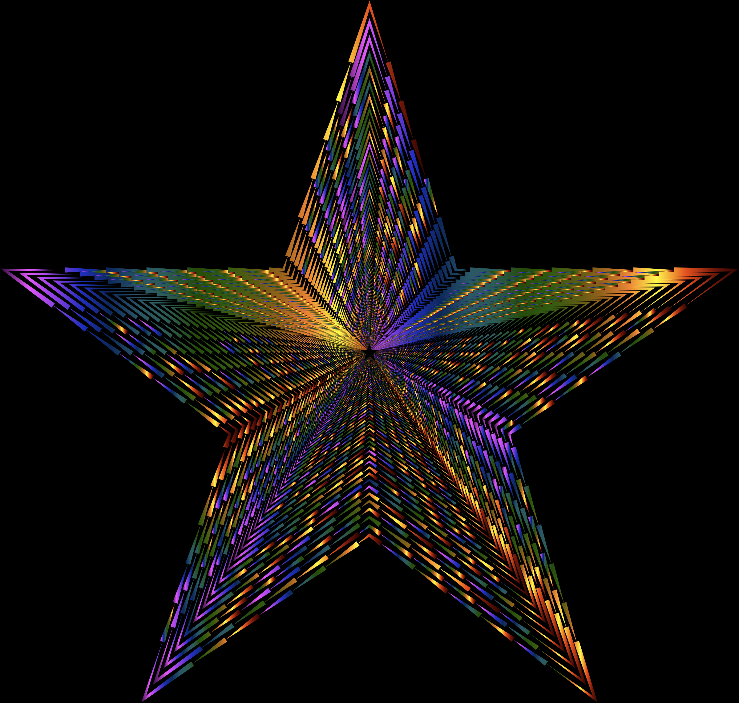 Psychedelic 3D Star Spikes by GDJ