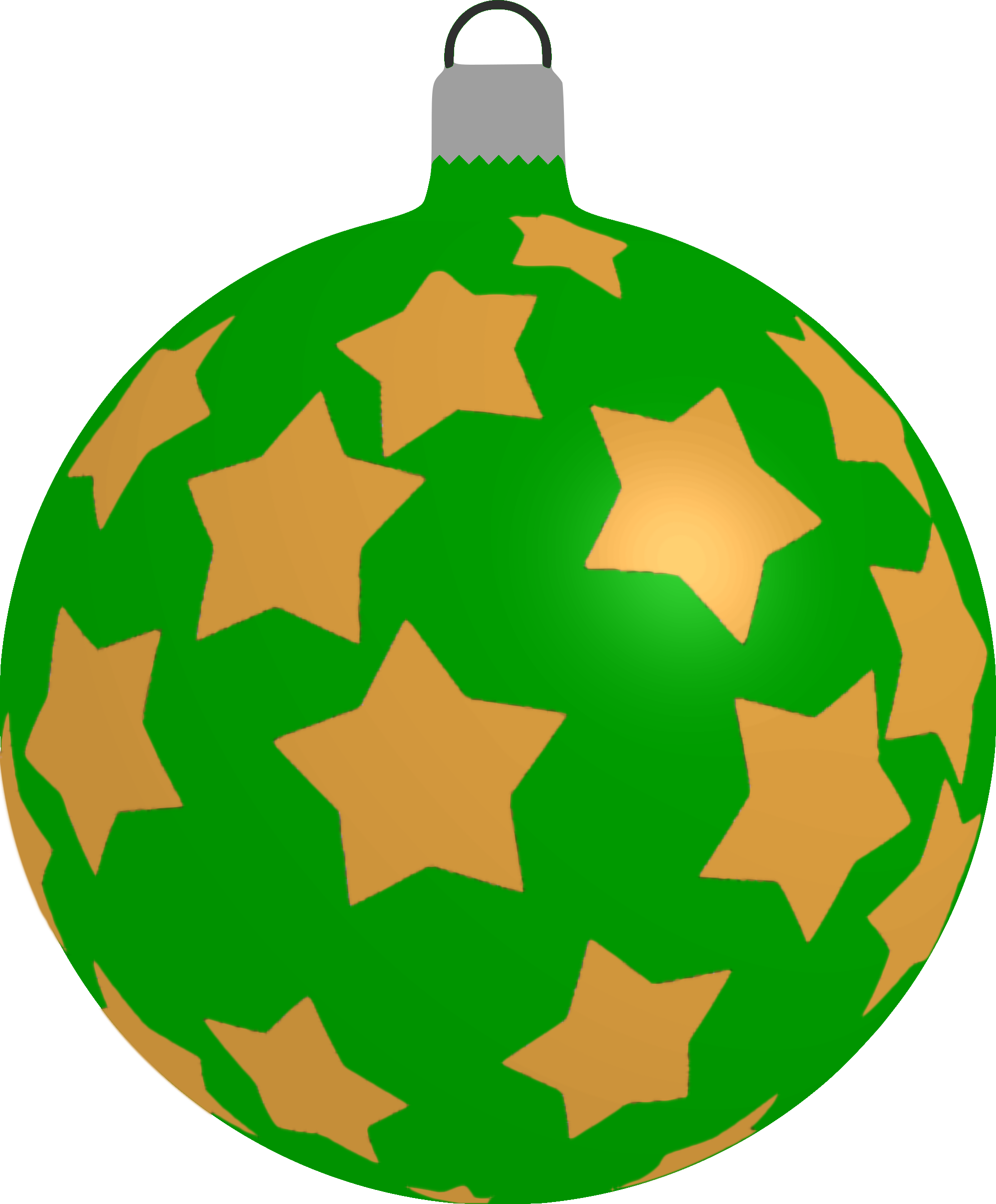 Clipart Patterned Bauble 5 Green