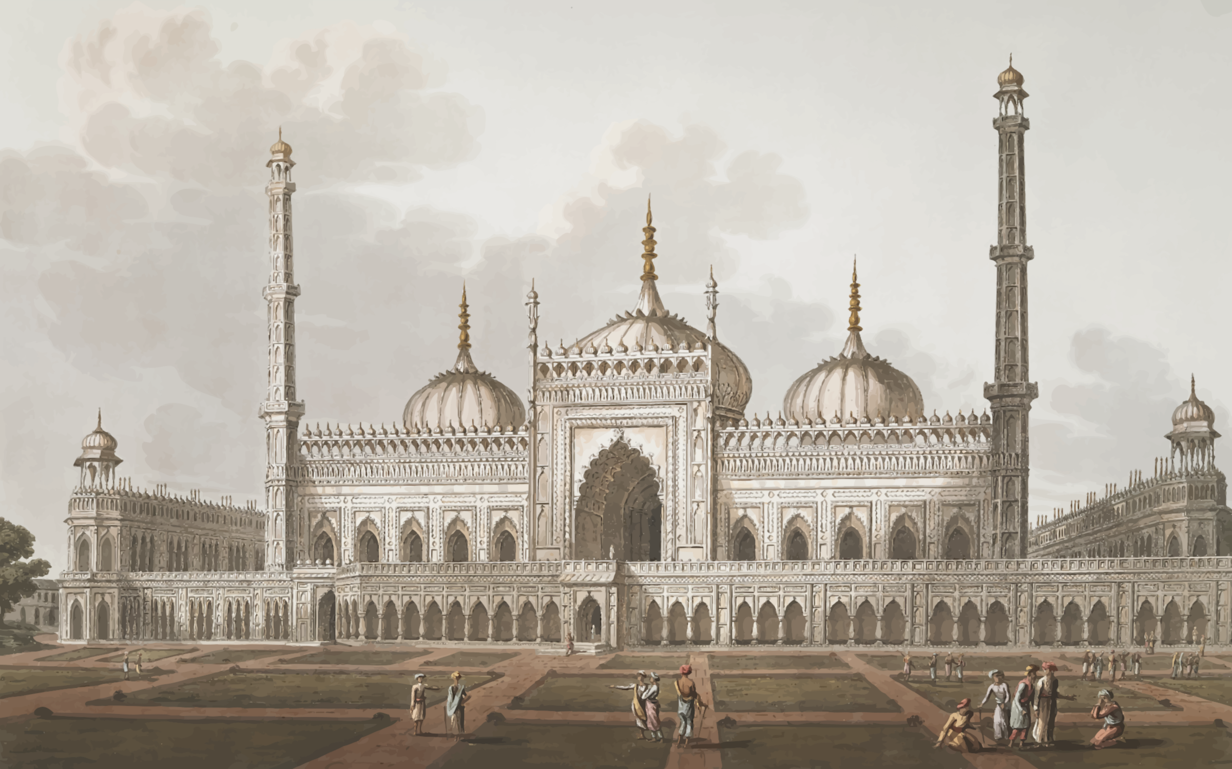 Mosque at Lucknow by Firkin