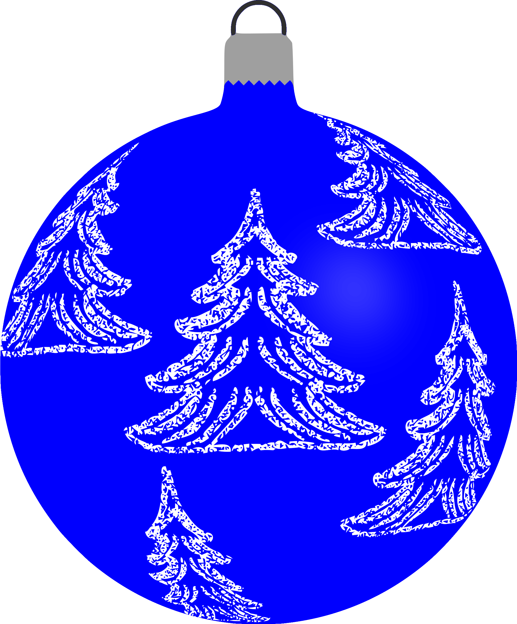 Patterned bauble 6 (blue) by Firkin