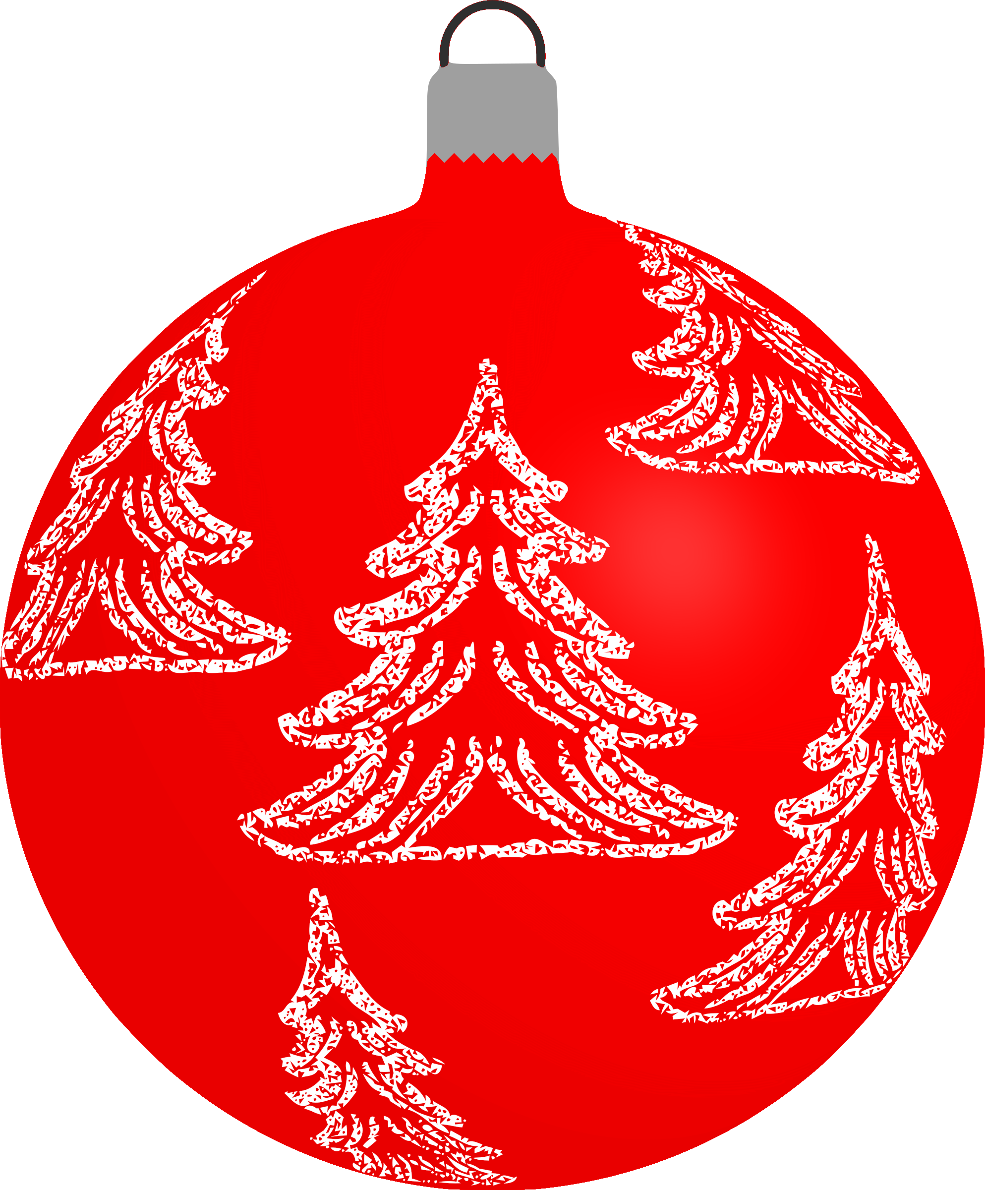 Patterned bauble 6 (red) by Firkin