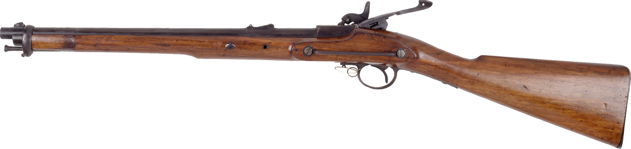 Antique rifle by Firkin