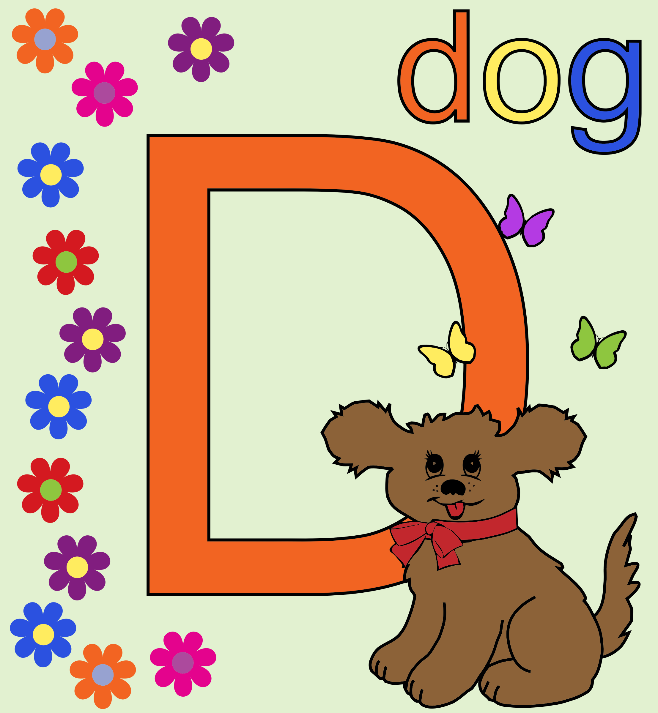 Letter D Alphabet by GDJ