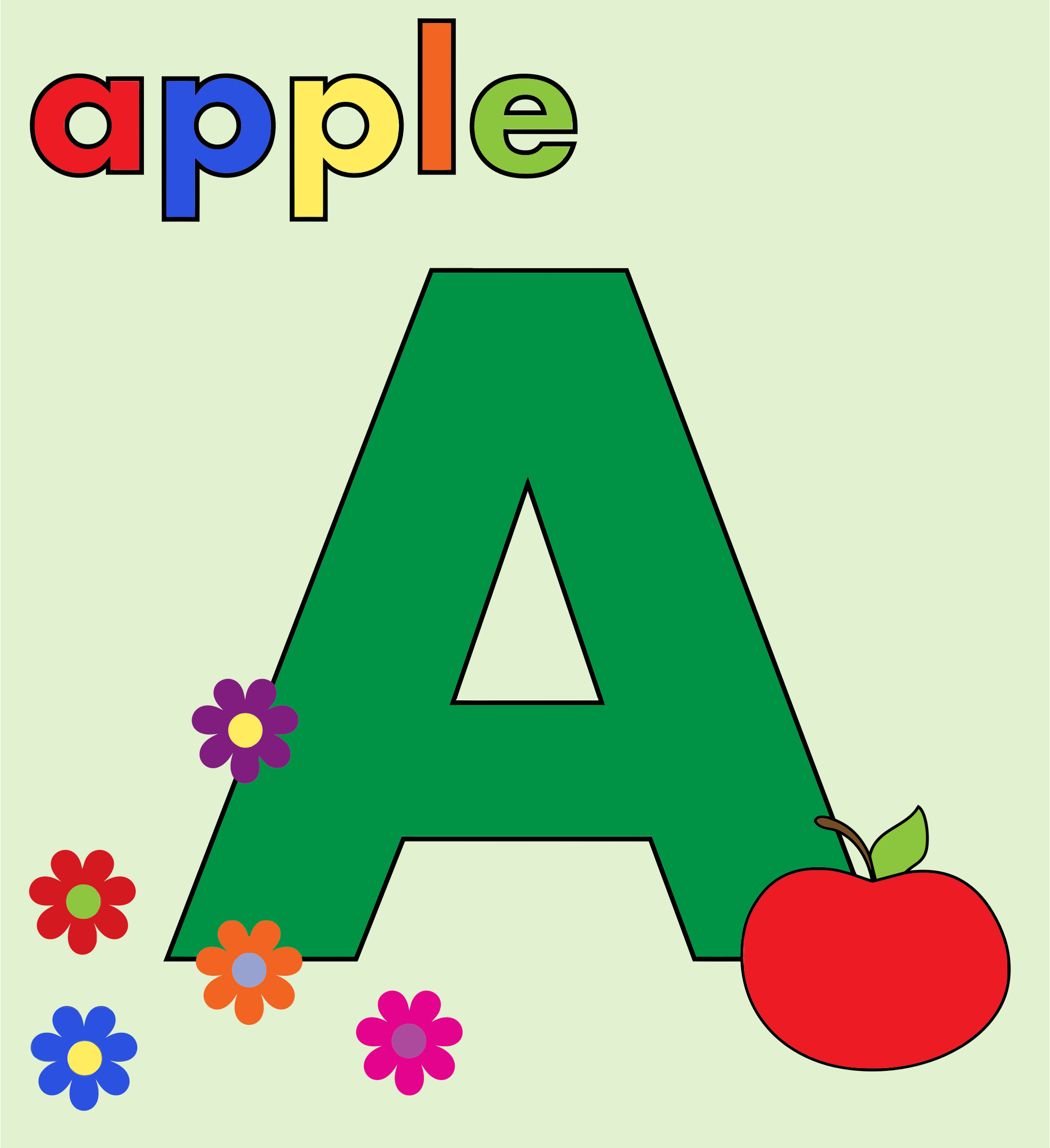 Apple Alphabet A by GDJ