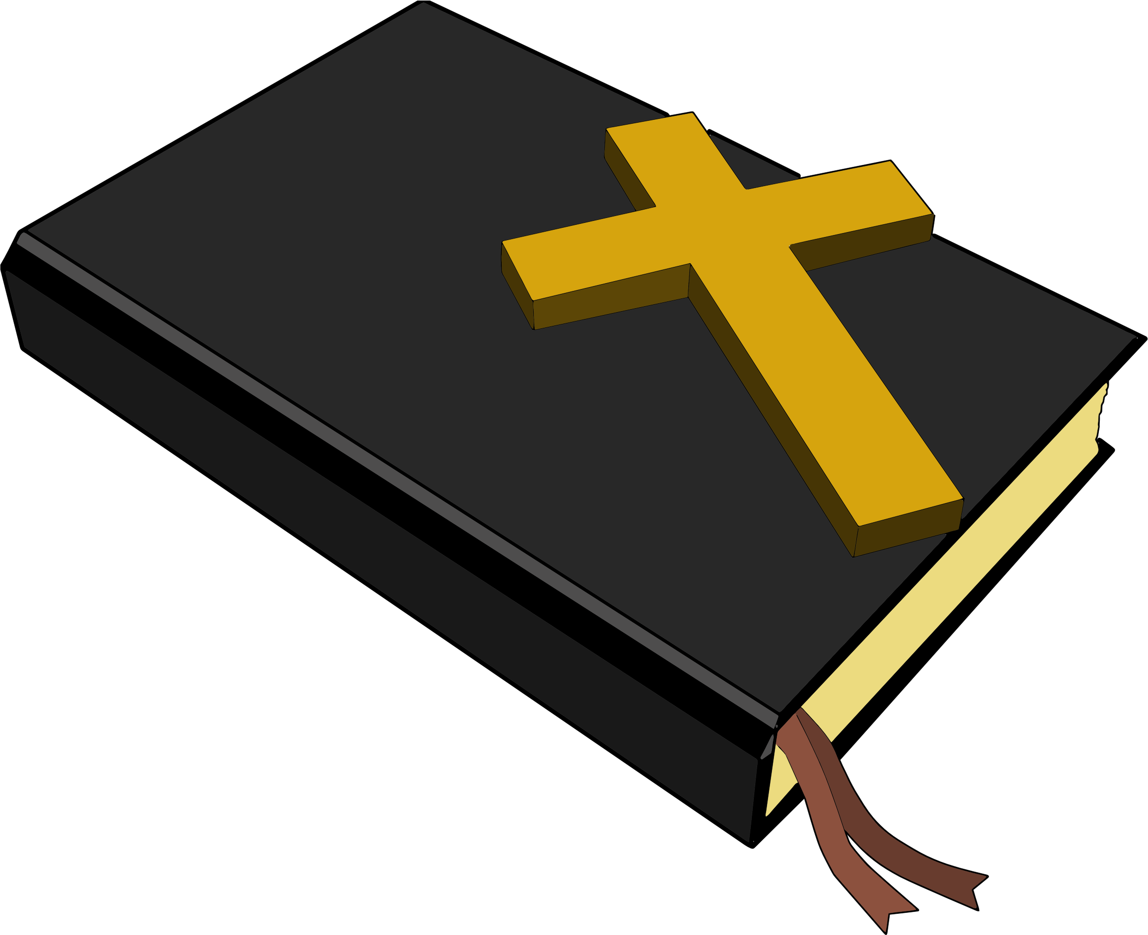 Clipart - Bible And Cross